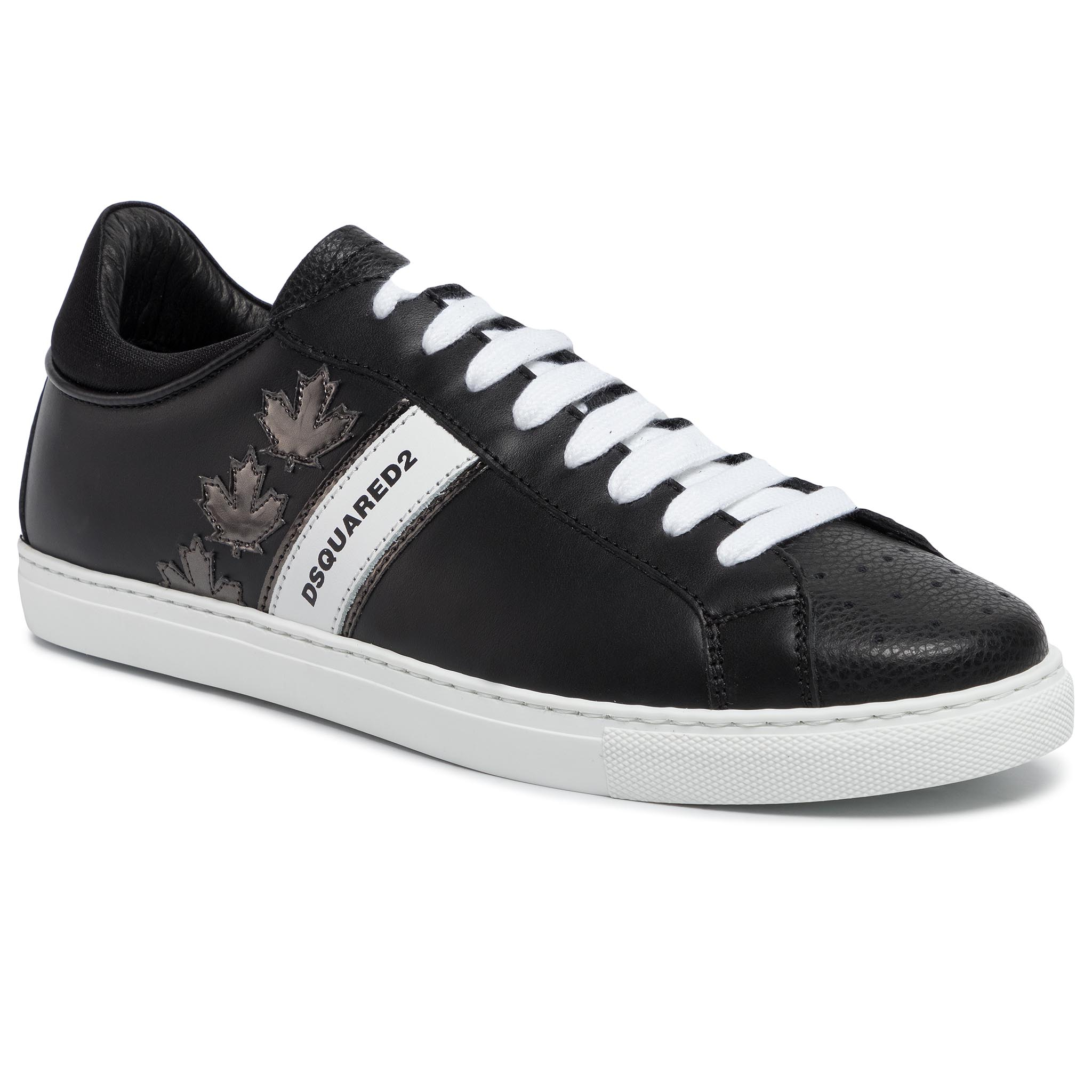 Sneakers DSQUARED2 - Lace-Up Low Top Sneakers SNM0035 06502259 M1082 Nero/Anthracite