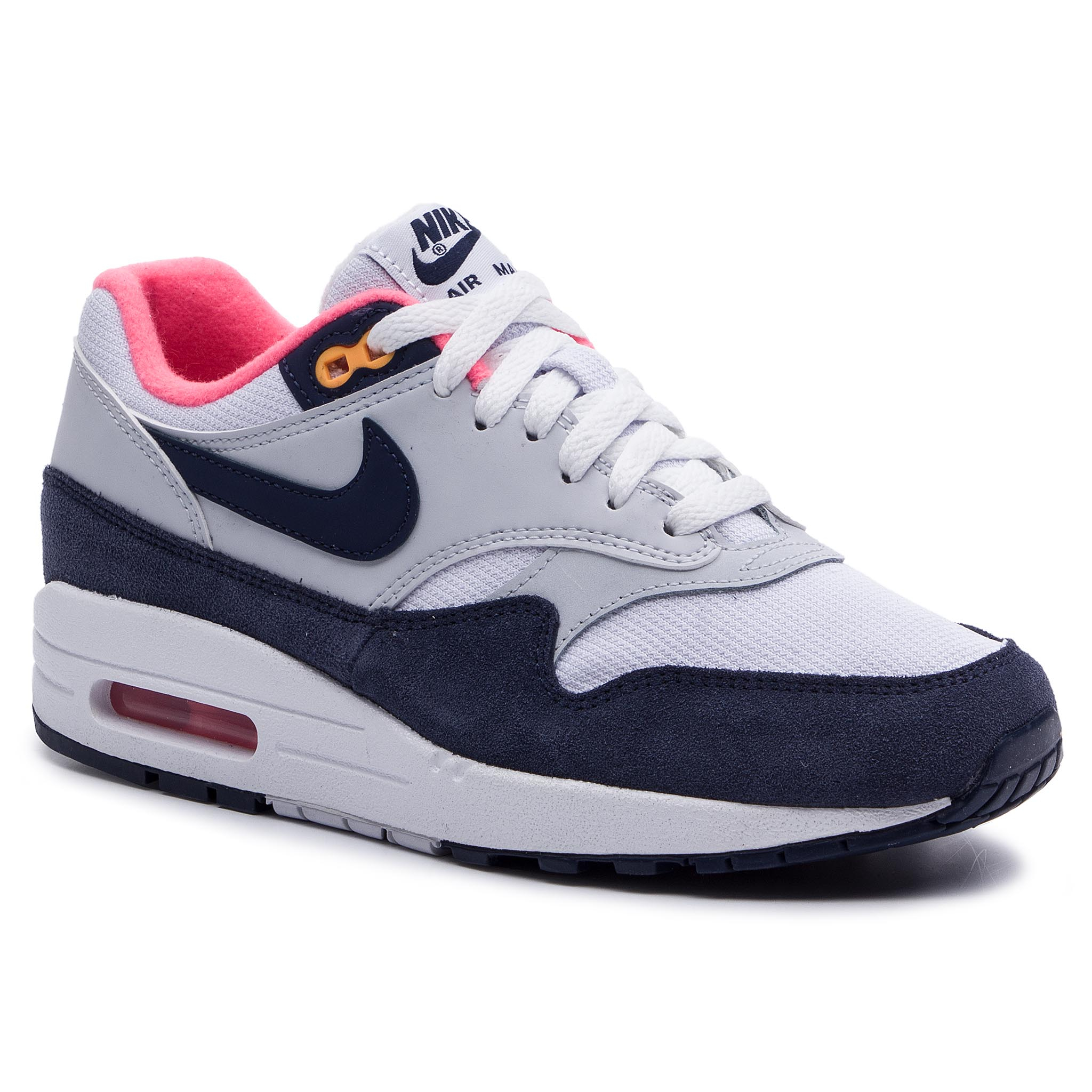 Pantofi NIKE - Air Max 1 319986 116 White/Midnight Navy