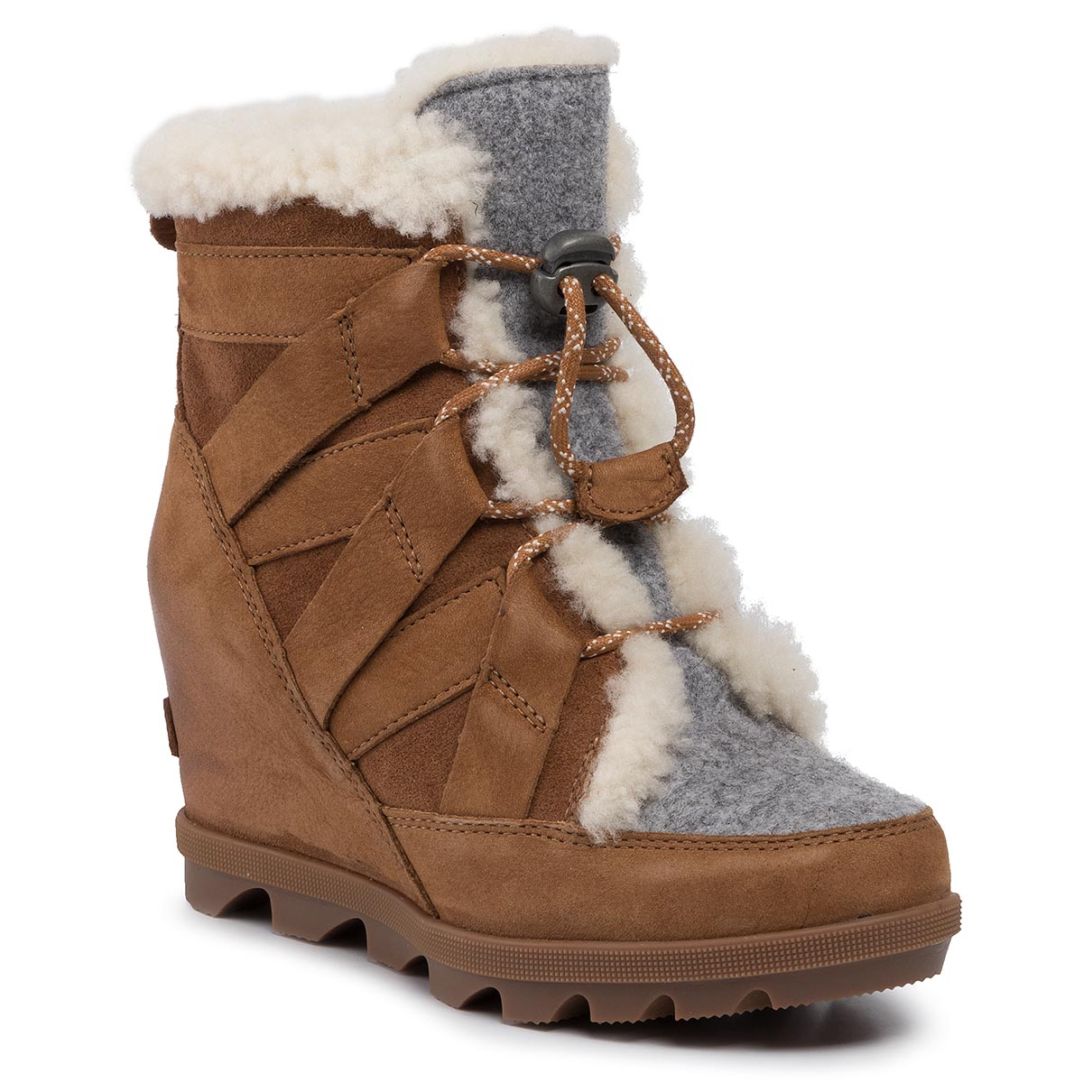 Botine SOREL - Joan Of Arctic Wedge II Cozy NL3361 Camel Brown 224