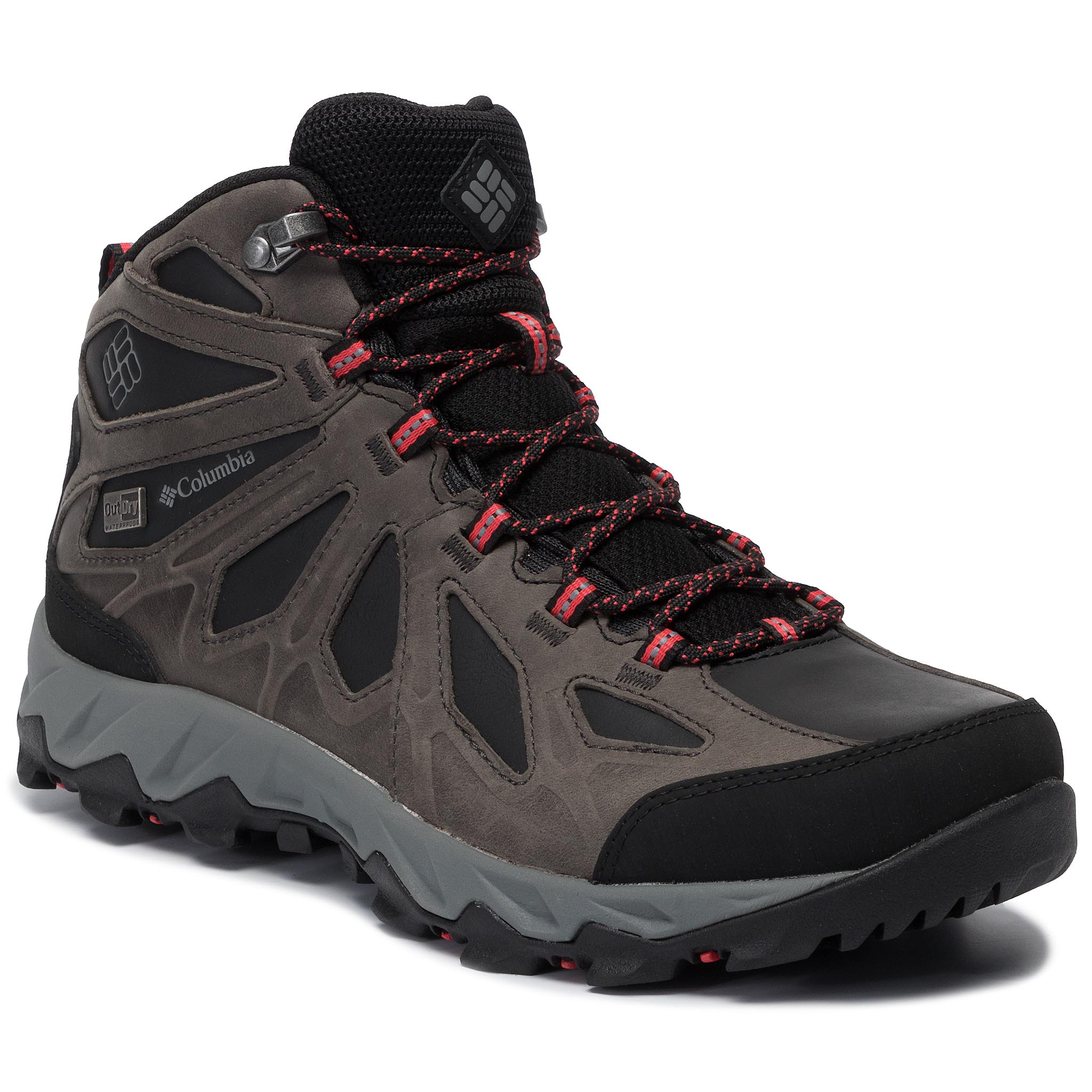 Trekkings COLUMBIA - Lincoln Pass Mid Ltr Outdry YL5365 Black/Red Camellia 010