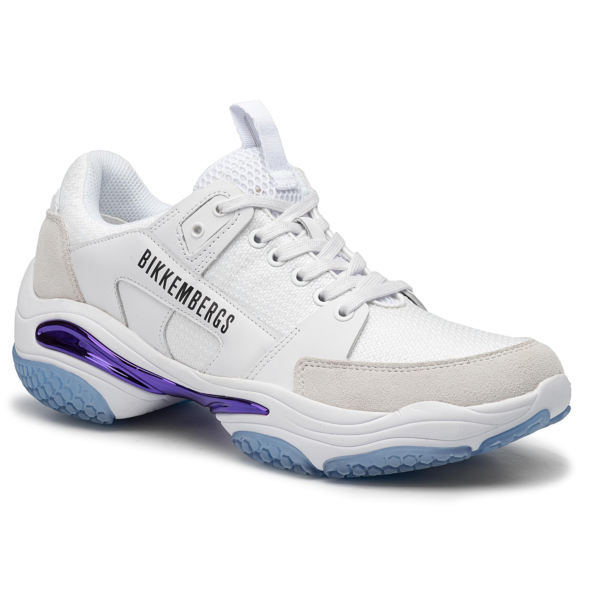 Sneakers BIKKEMBERGS - Low Top Lace Up B4BKM0040 White
