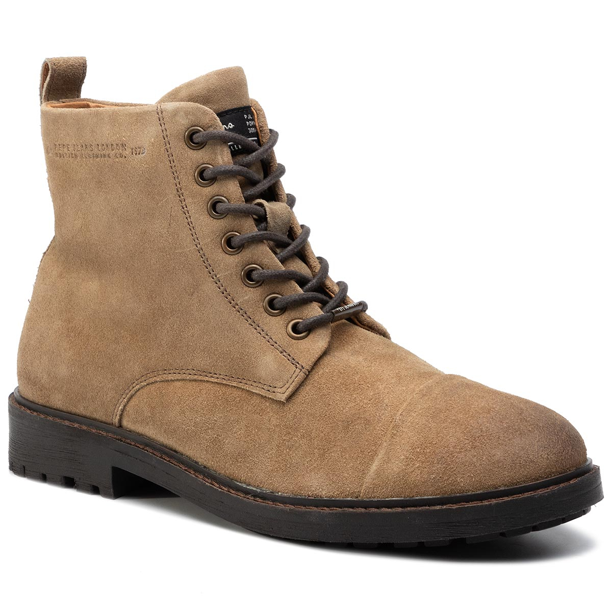 Cizme PEPE JEANS - Porter Boot Suede PMS50180 Tan 869