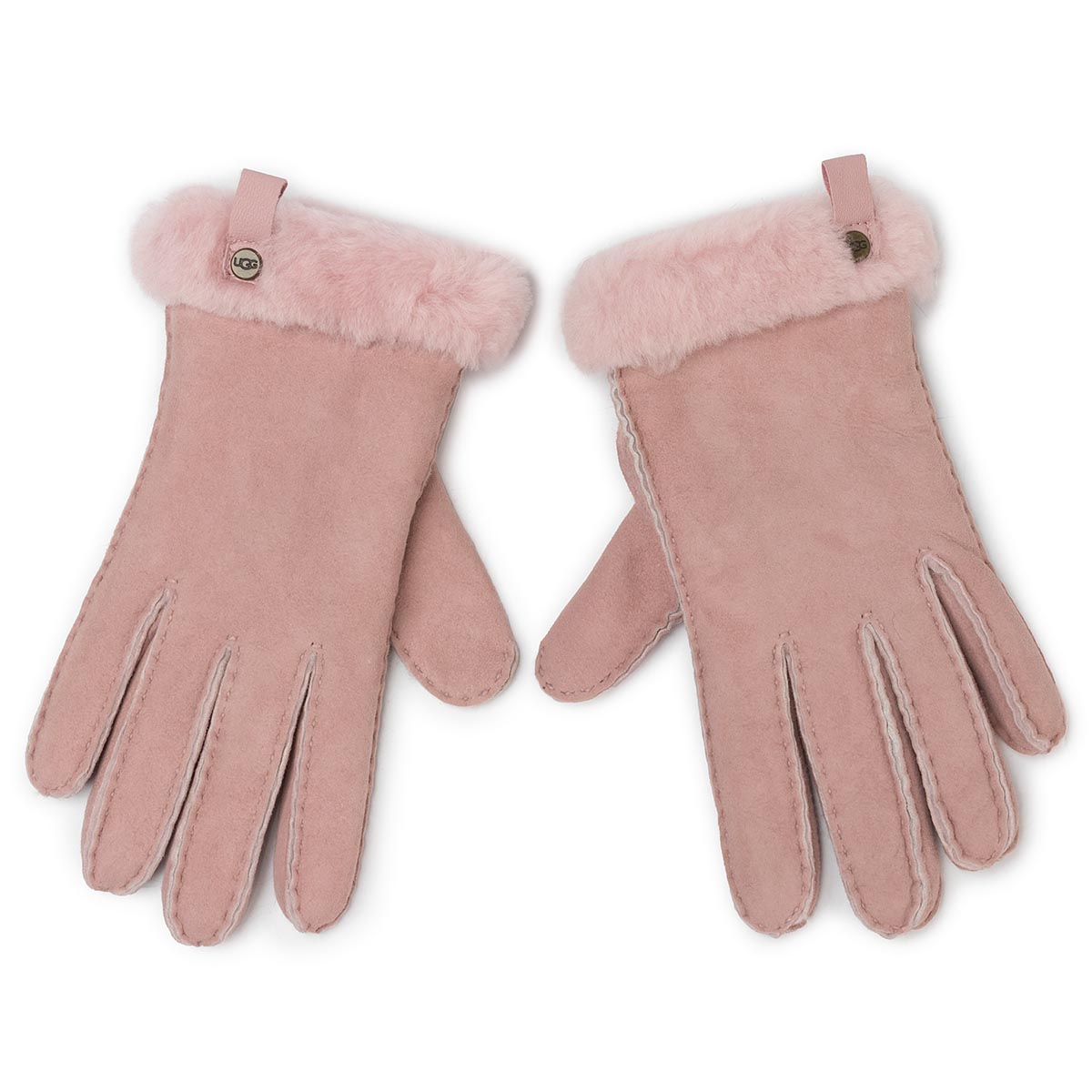 Mănuși UGG - W Shorty Glove W Leather Trim 17367 Pink Crystal