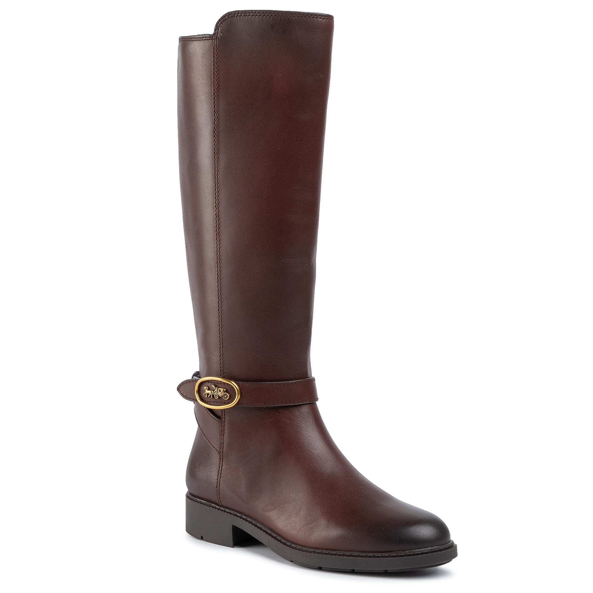 Cizme lungi riding COACH - Ruby Hc Boot Ltr G4393 233148 Walnut