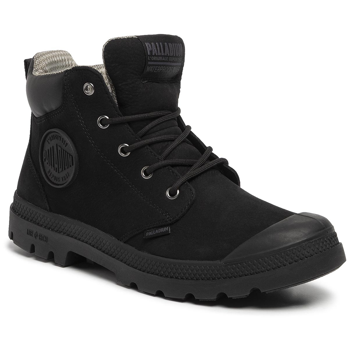 Trappers PALLADIUM - Pampa Lite+ Cuff Wp 76464-008-M Black