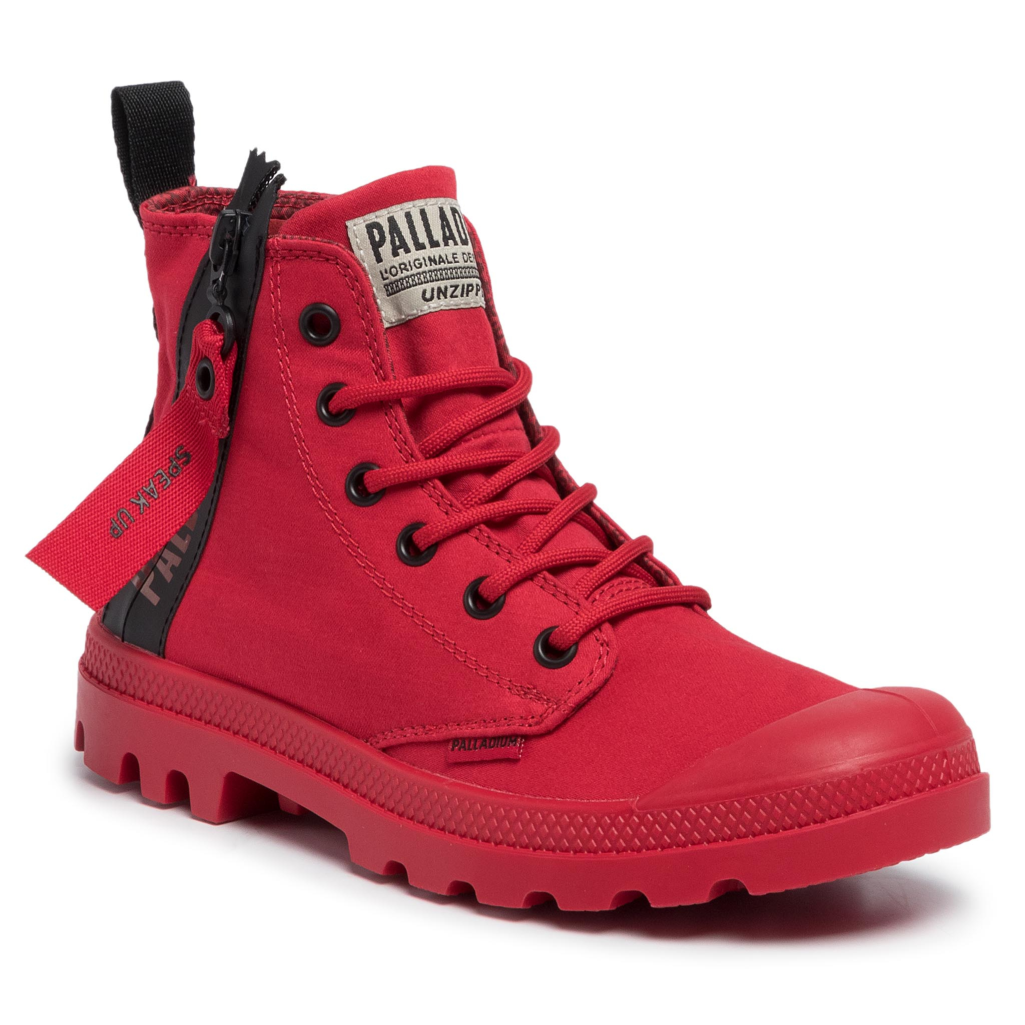 Trappers PALLADIUM - Pampa Unzipped 76443-614-M Red Salsa