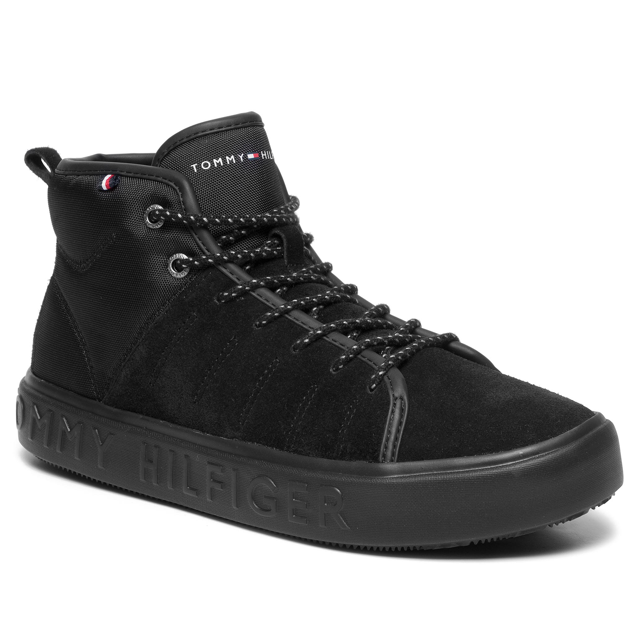 Sneakers TOMMY HILFIGER - Corporate Branded Cupsole High FM0FM02393 Black 990