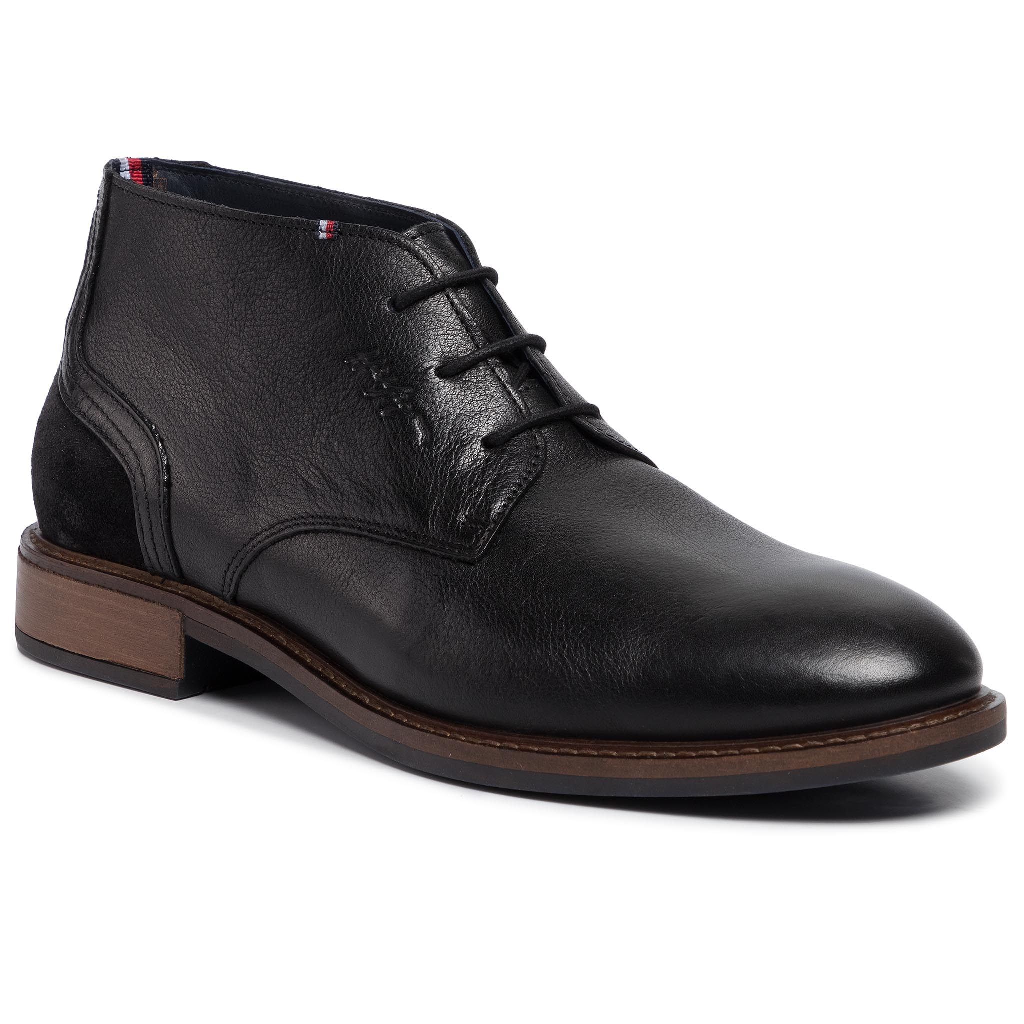 Ghete TOMMY HILFIGER - Elevated Leather Mix Boot FM0FM02438 Black 990