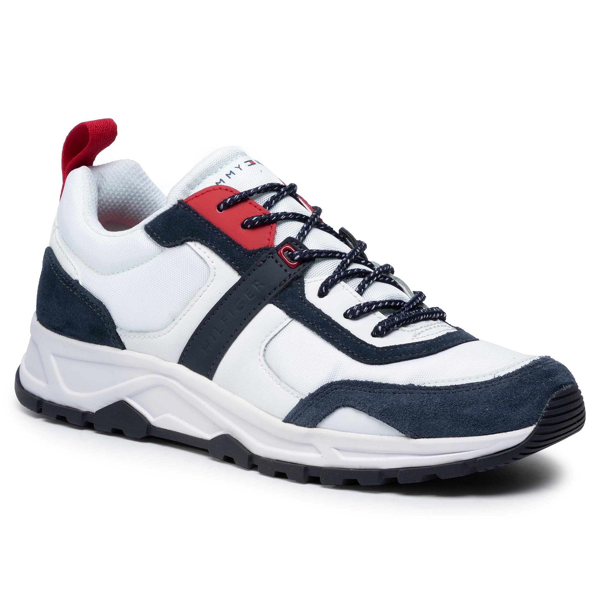 Sneakers TOMMY HILFIGER - Fashion Mix Sneaker FM0FM02389 White YBS