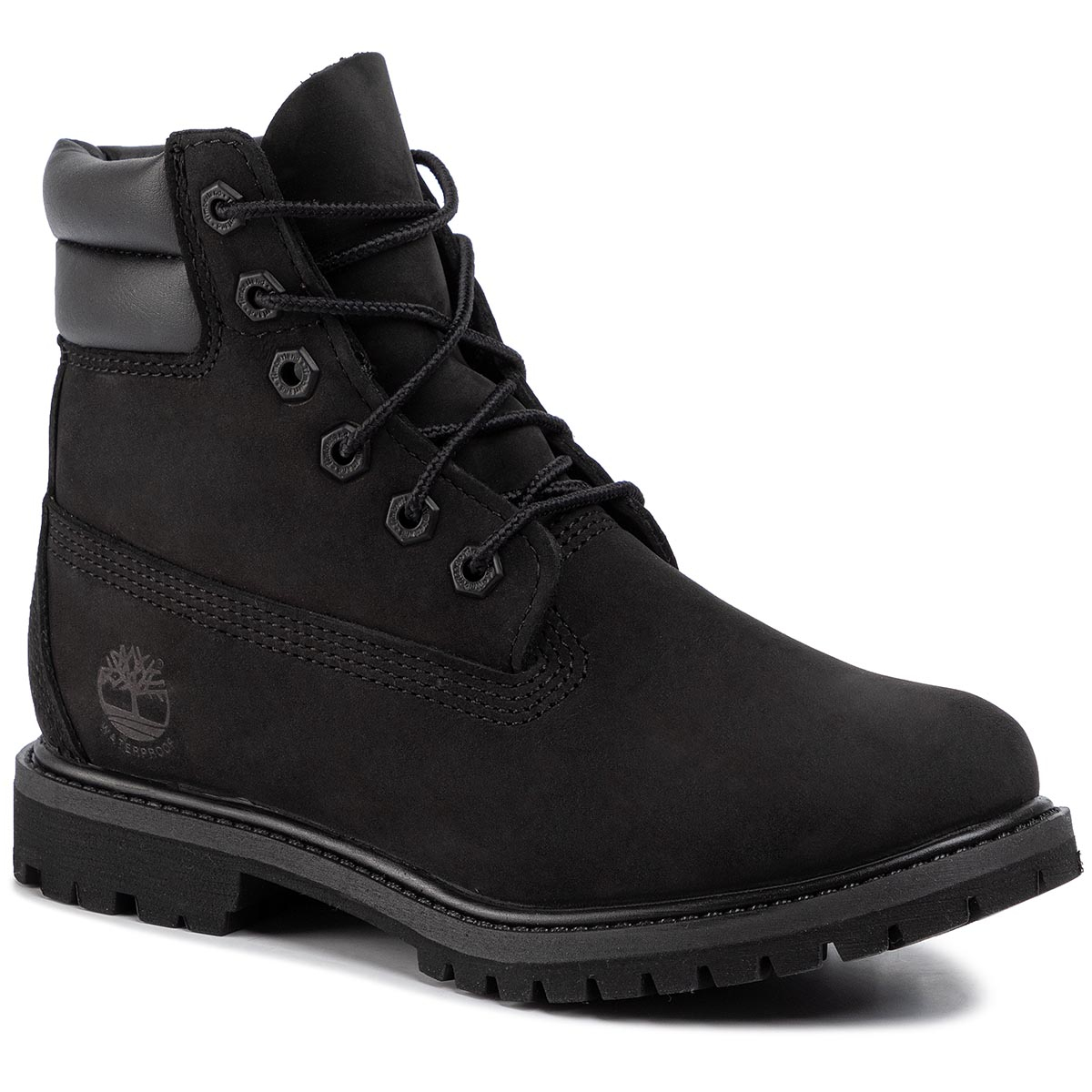 Trappers Timberland - Waterville 6 In Waterproof Boot Tb0a15qy0011 Black Nubuck imagine epantofi.ro