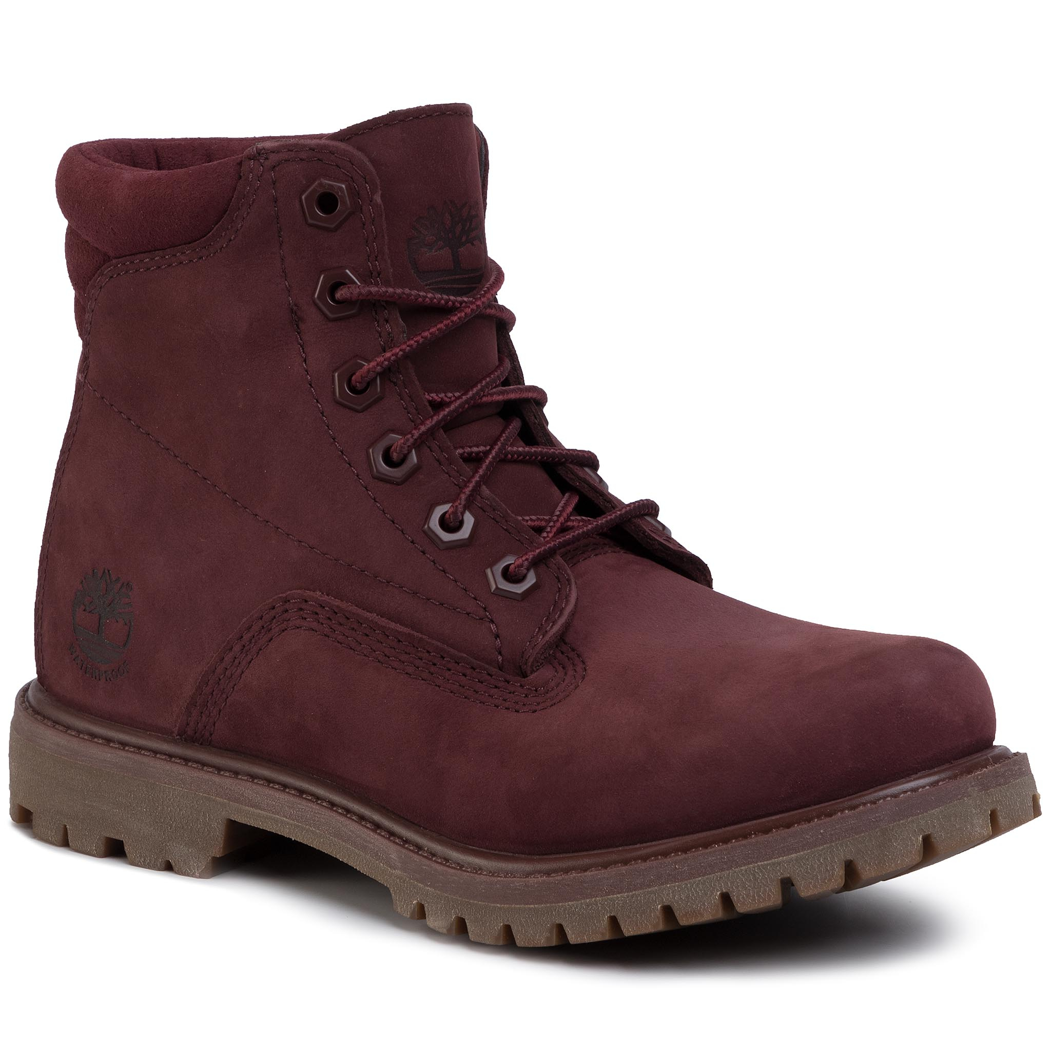 Trappers TIMBERLAND - Waterville 6 In Waterproof Boot TB0A1R2TC601 Burgundy Nubuck