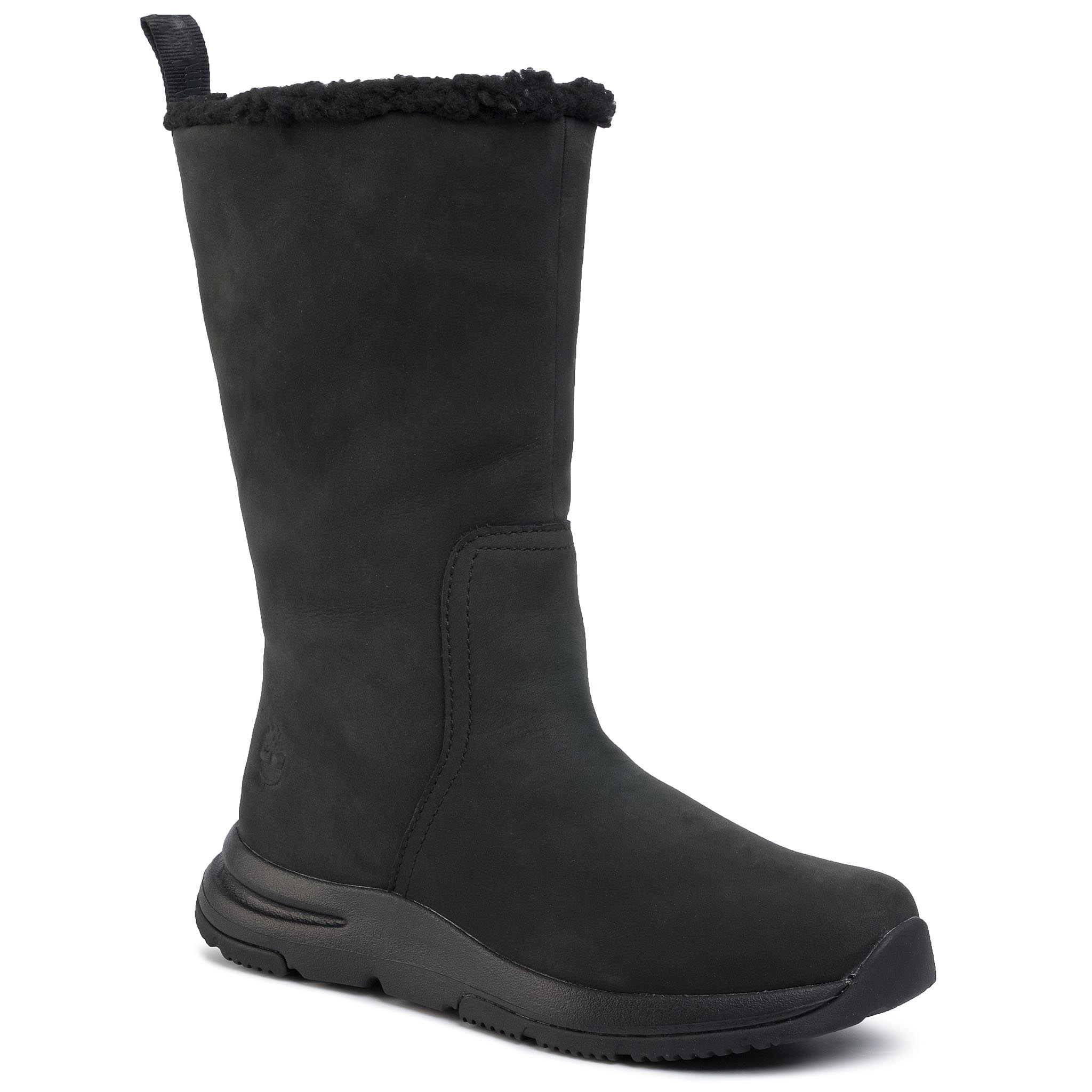 Cizme TIMBERLAND - Mabel Town Wp Pull On Boot TB0A22S9015 Black Nubuck