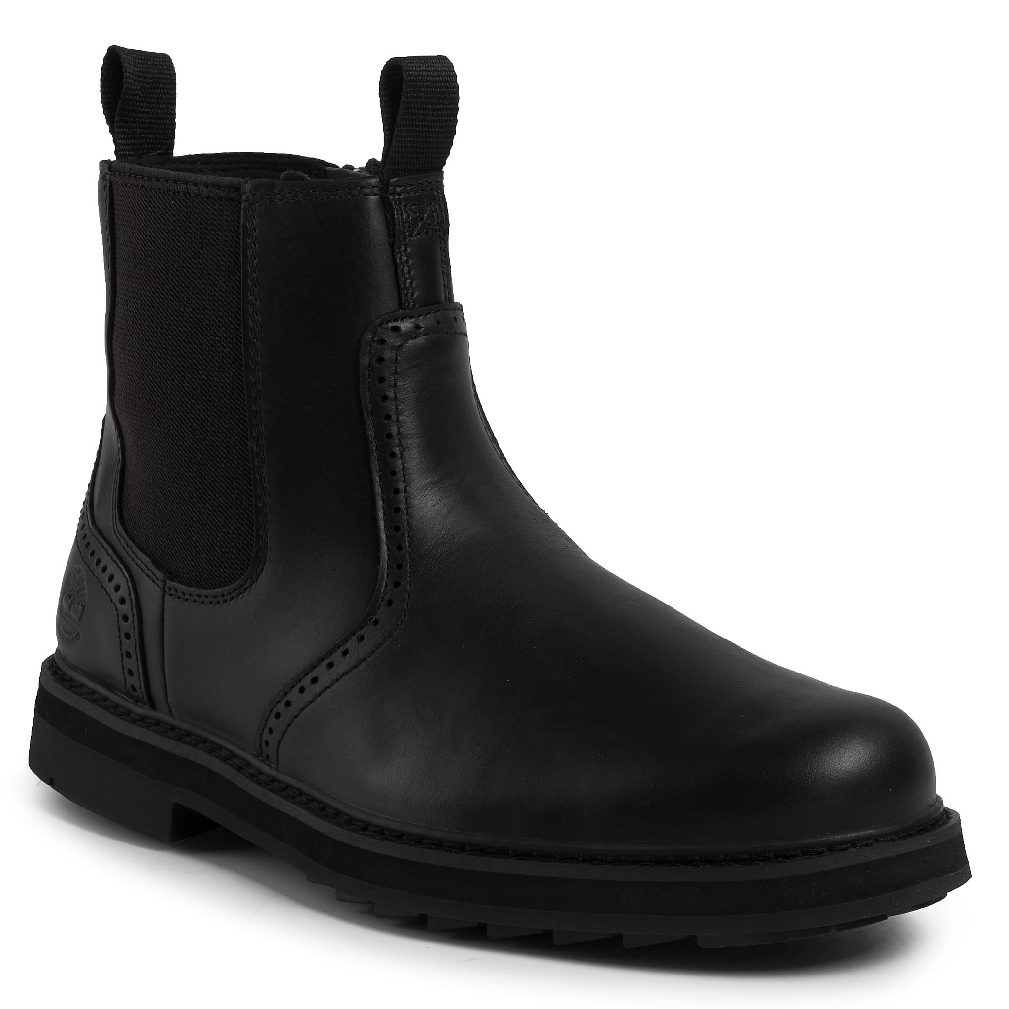 Cizme TIMBERLAND - Squall Canyon Chelsea TB0A297A0151 Black Full Grain