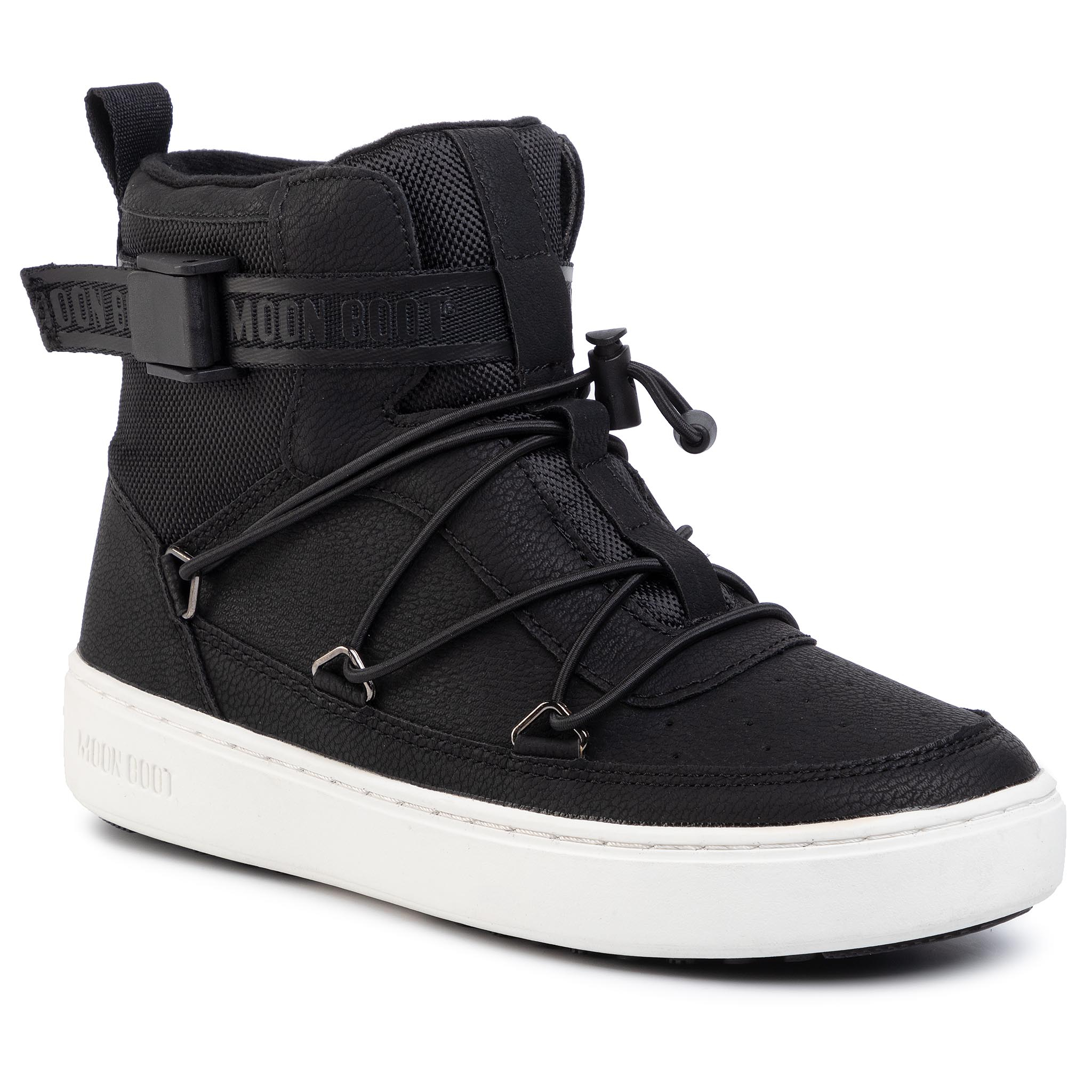Ghete MOON BOOT - Pulse Jr Boy New York 340611001 D Black
