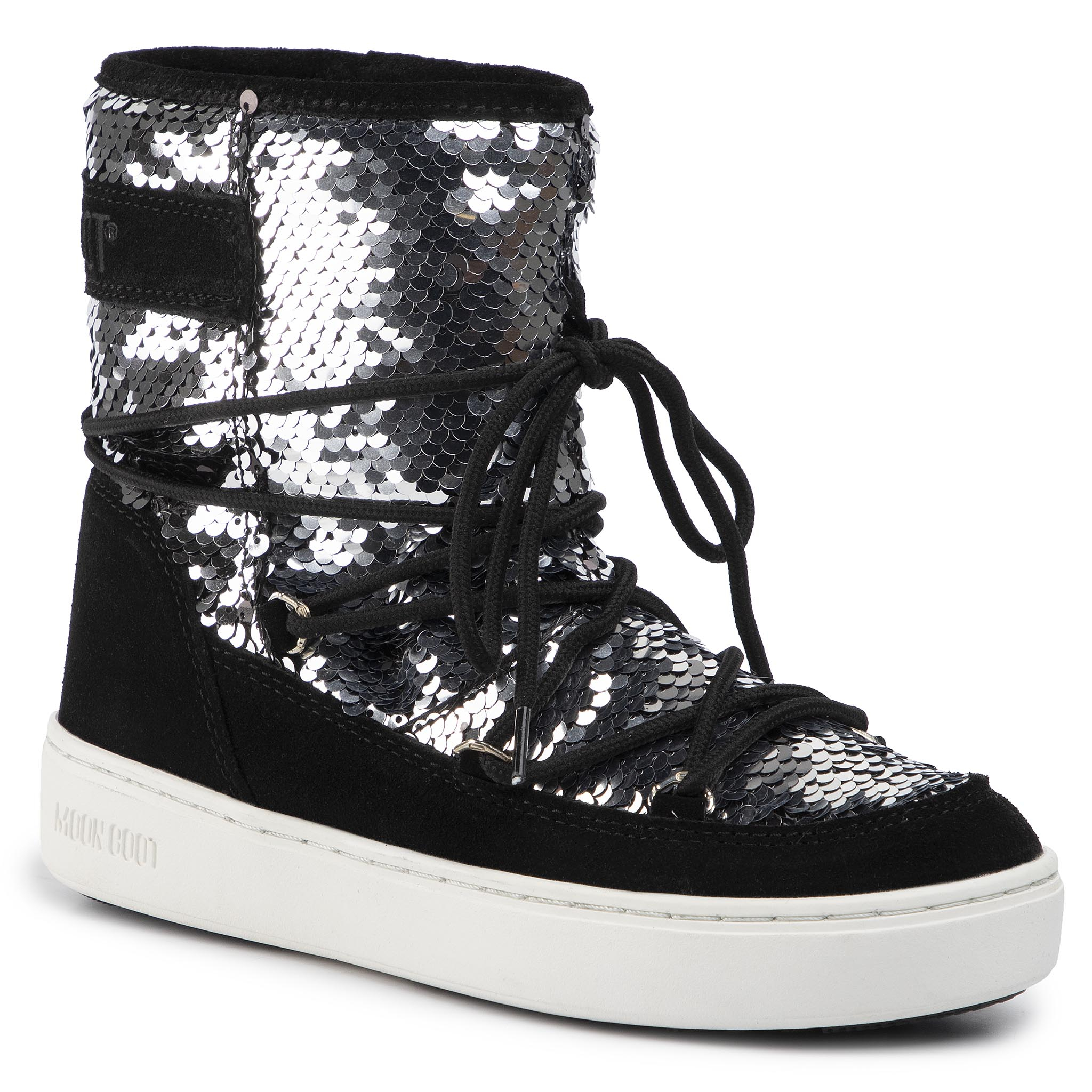 Cizme de zăpadă MOON BOOT - Pulse Mid Disco 24103600001 Black