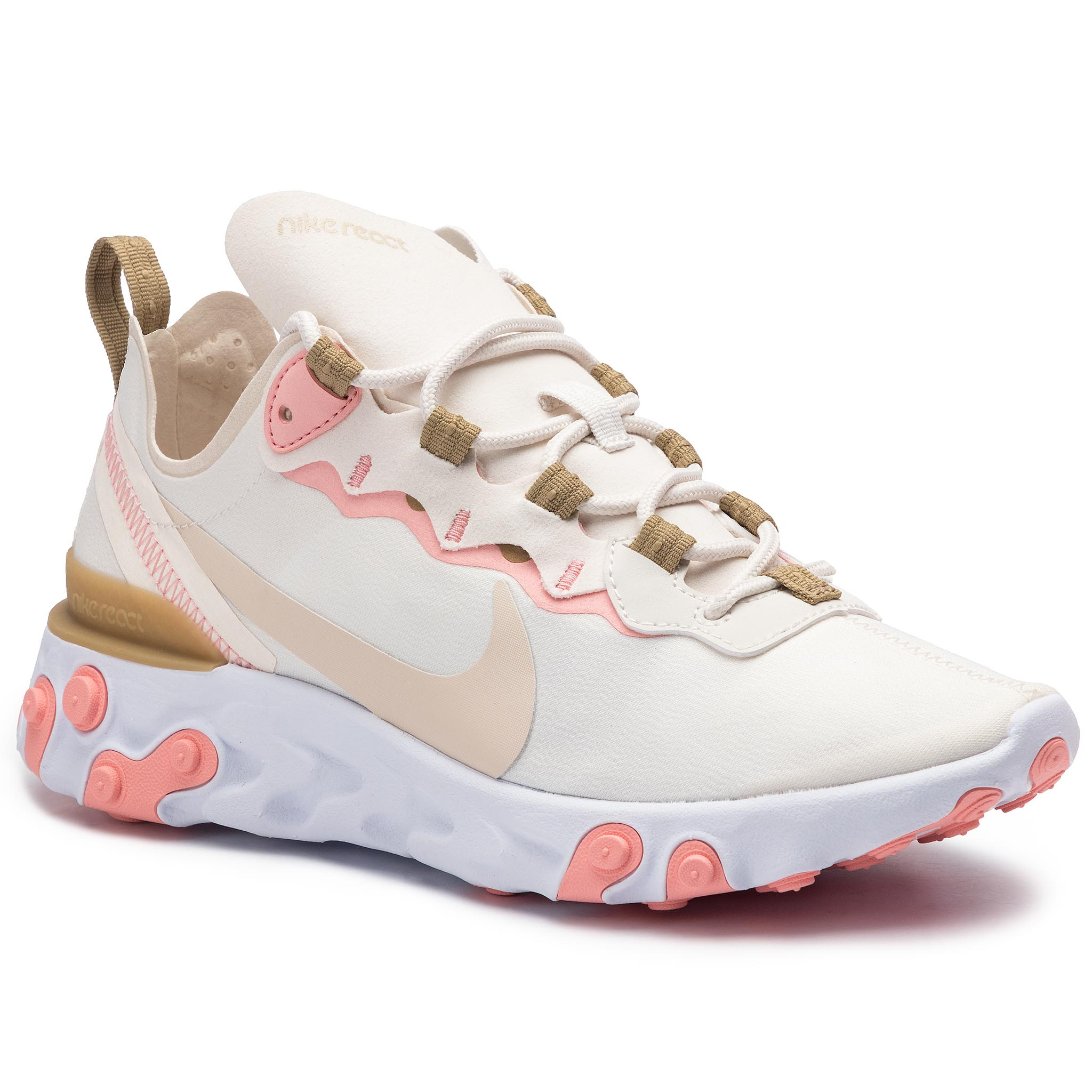 Pantofi NIKE - React Element 55 BQ2728 007 Phantom/Lt Orewood Brn