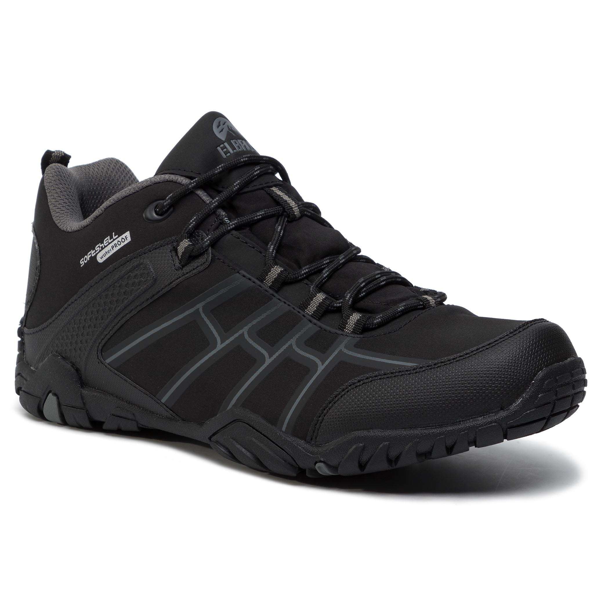 Trekkings Elbrus - Rimley Wp Black/Dark Grey imagine epantofi.ro 2021