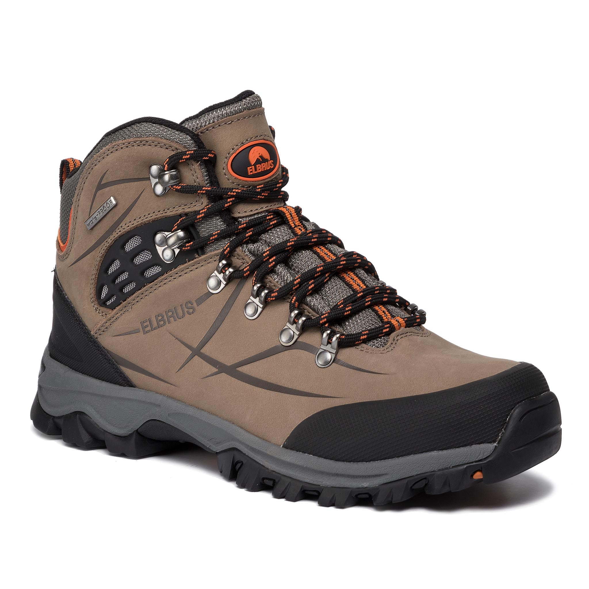 Trekkings ELBRUS - Mandoza Mid Wp Clay/Middle Grey/Orange