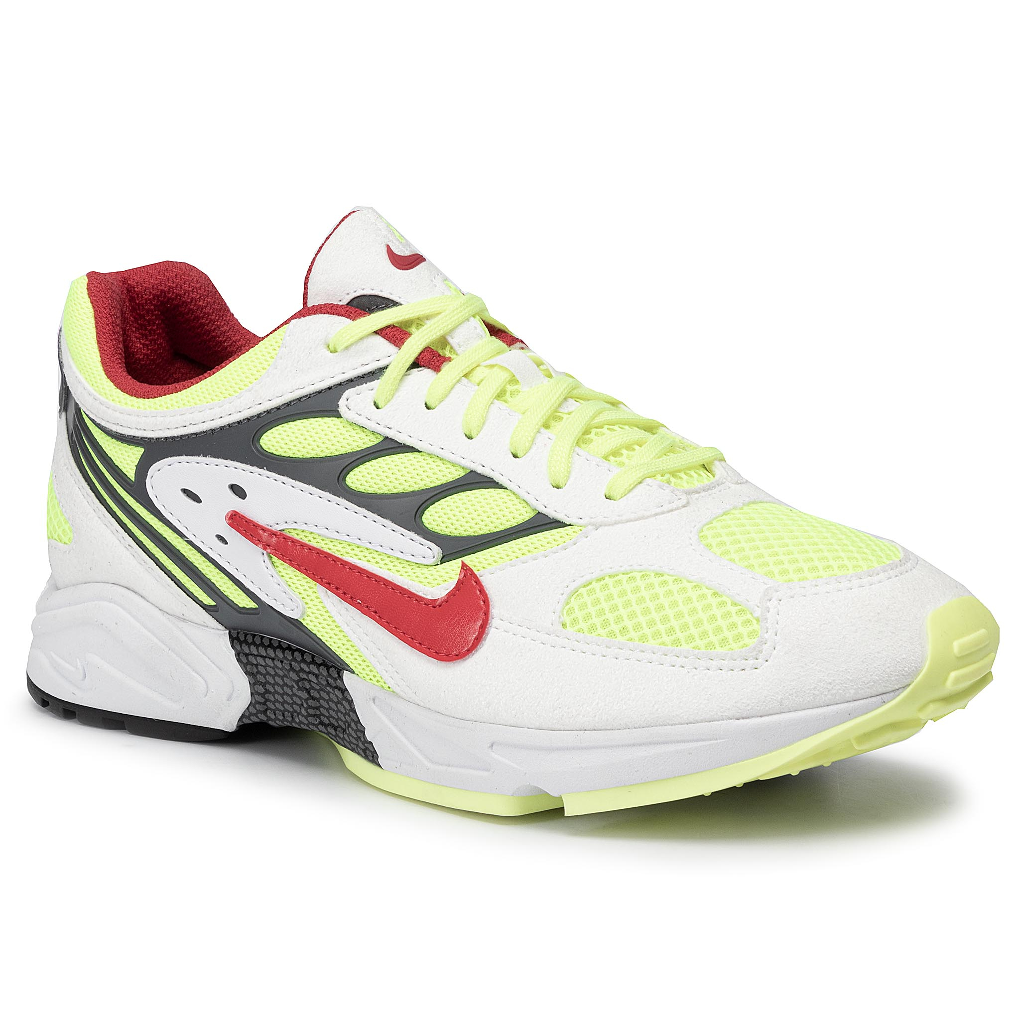 Pantofi NIKE - Air Ghost Racer AT5410 100 White/Atom Red/Neon Yellow New