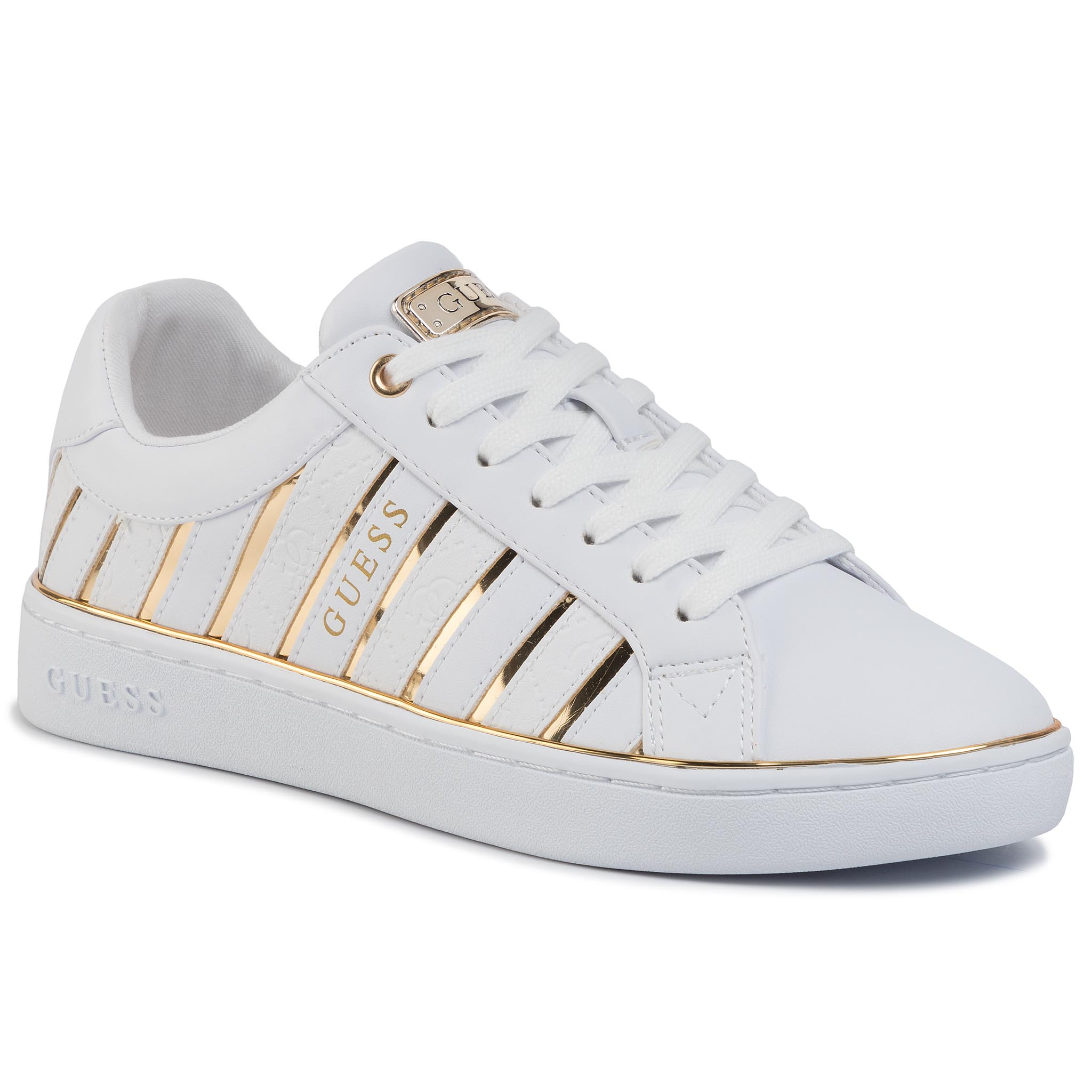 Sneakers GUESS - Bolier FL5BOL ELE12 WHITE/GOLD