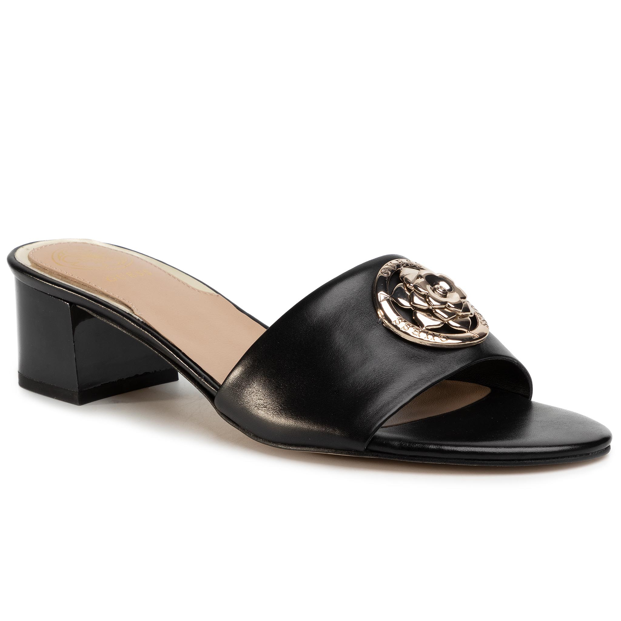 Șlapi Guess - Darice2 Fl6de2 Lea19 Black imagine epantofi.ro 2021