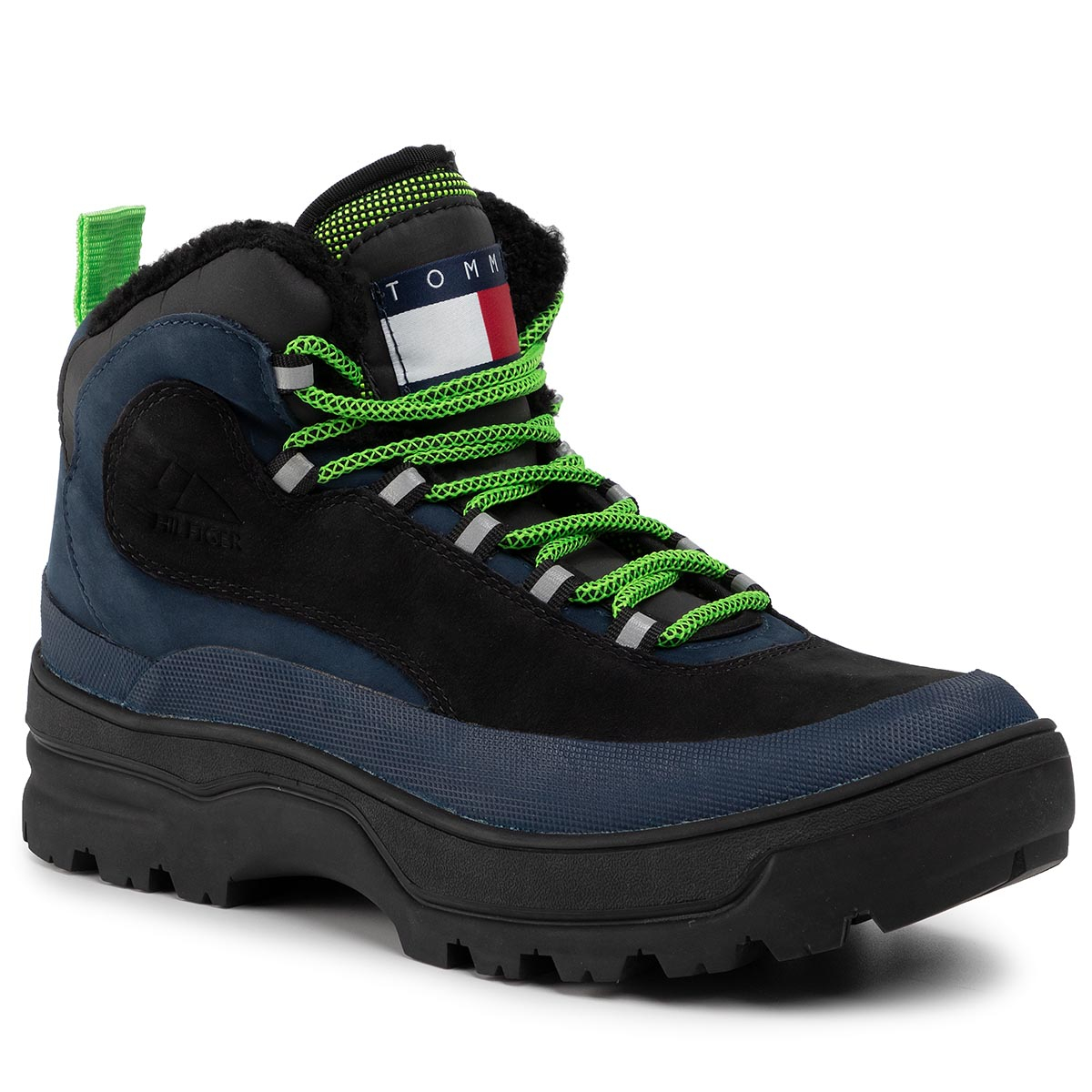Trappers TOMMY JEANS - Hilfiger Expedition Boot EM0EM00378 Black Iris CBK