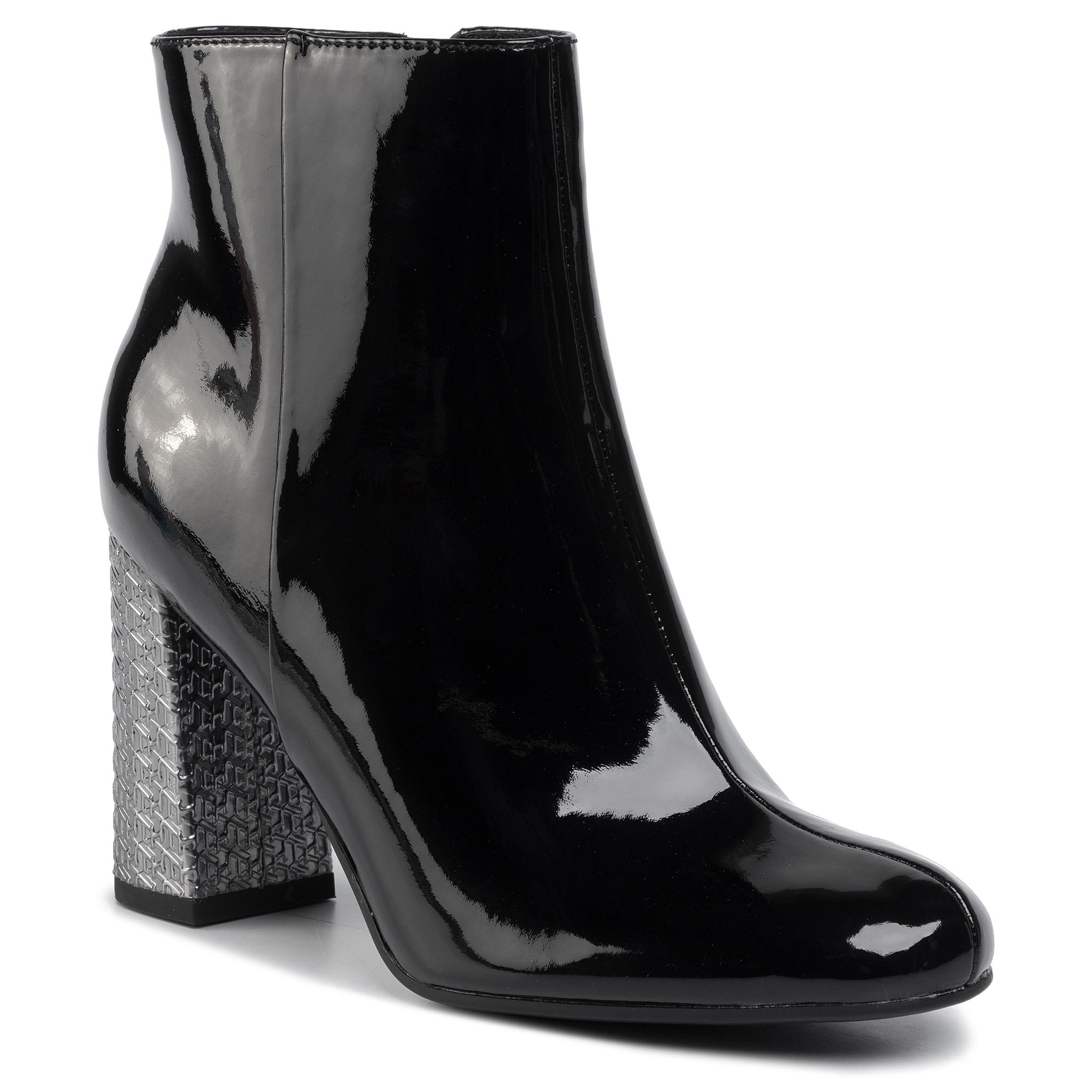 Botine TOMMY HILFIGER - Elevated Patent High Heel Boot FW0FW04571 Black BDS