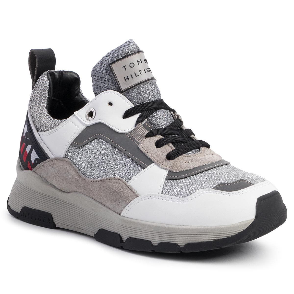 Sneakers TOMMY HILFIGER - Patent Fashion Runner FW0FW04609 White YBS
