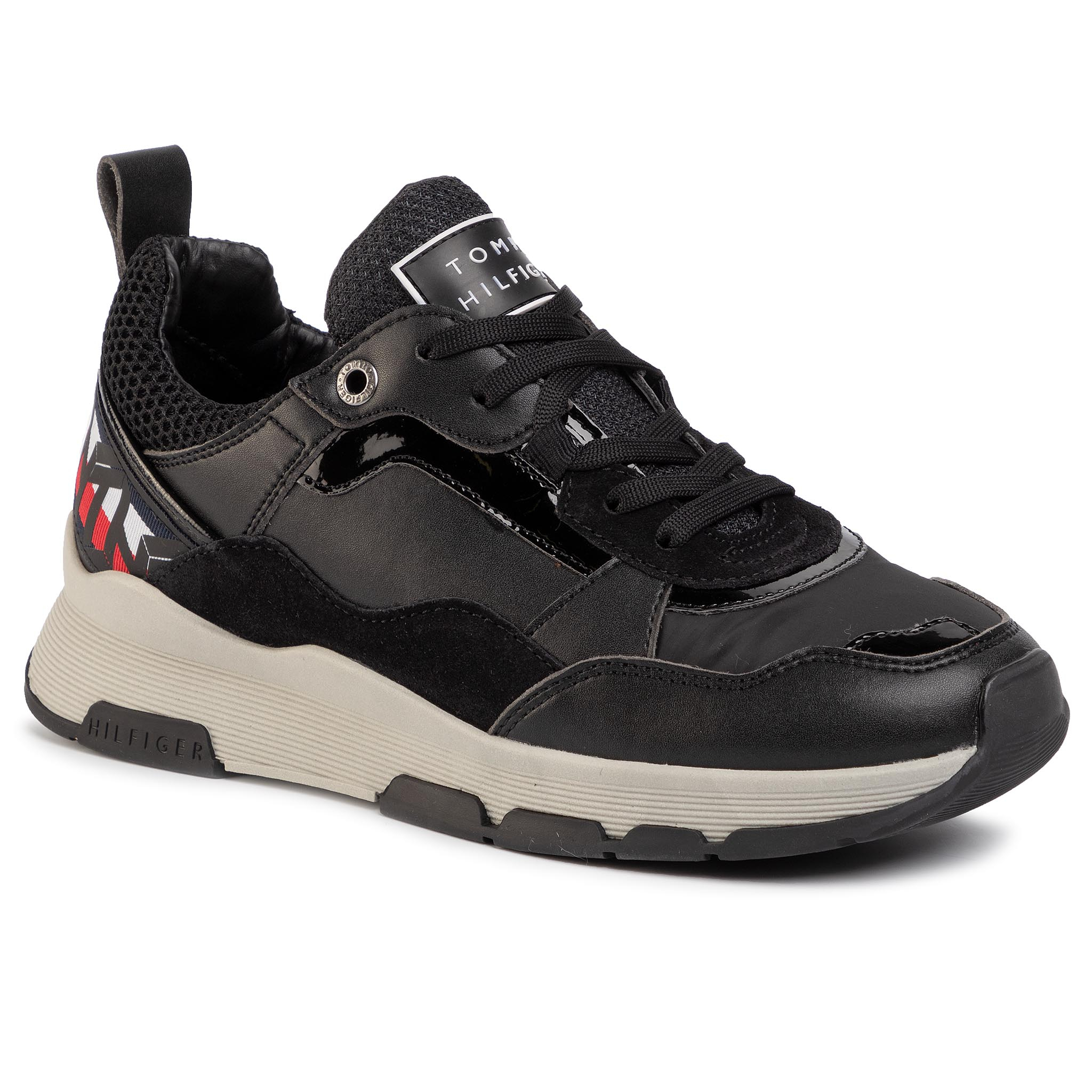 Sneakers TOMMY HILFIGER - Sparkle Fashion Runner FW0FW04636 Black BDS