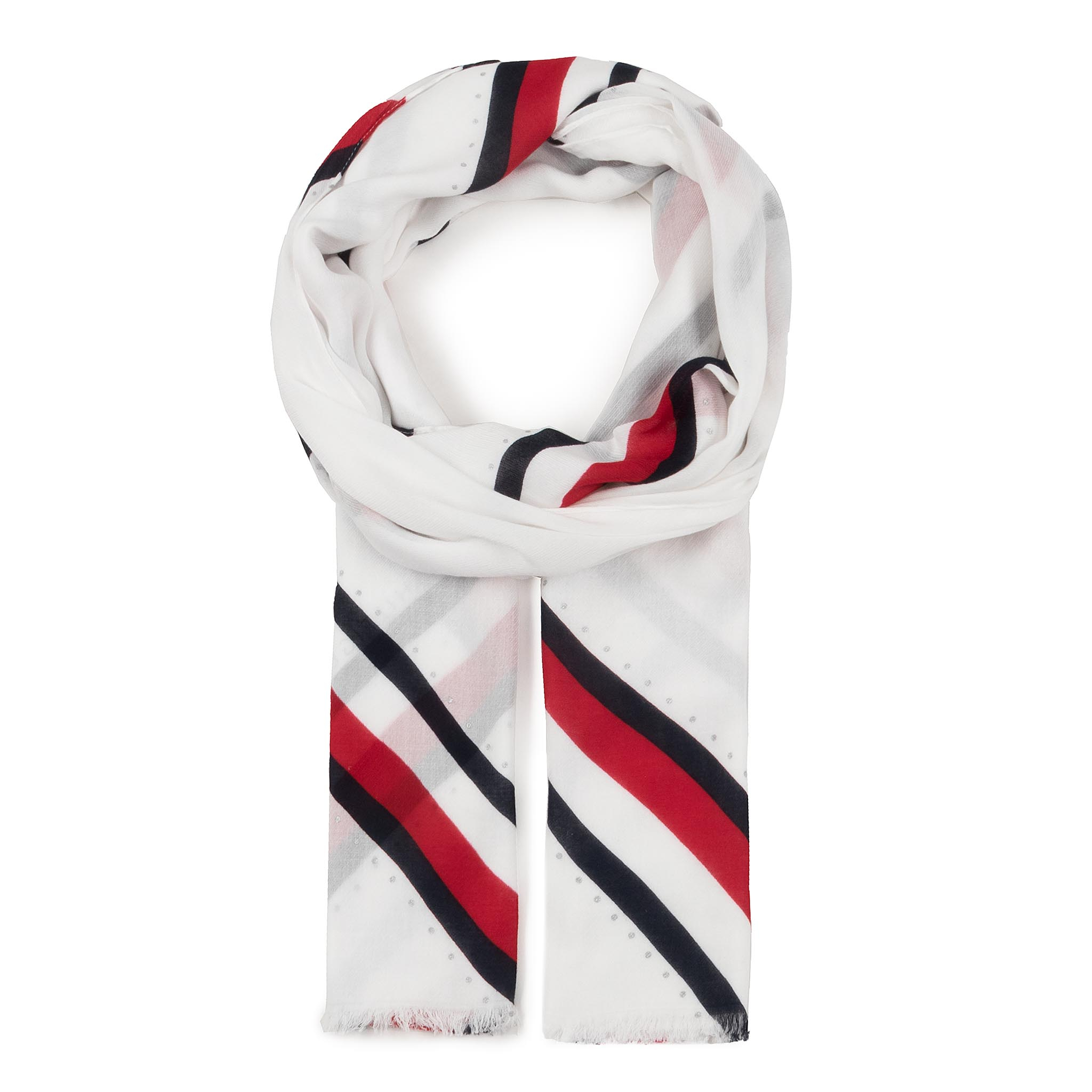 Fular TOMMY HILFIGER - Embellished Print Scarf AW0AW07870 BDS