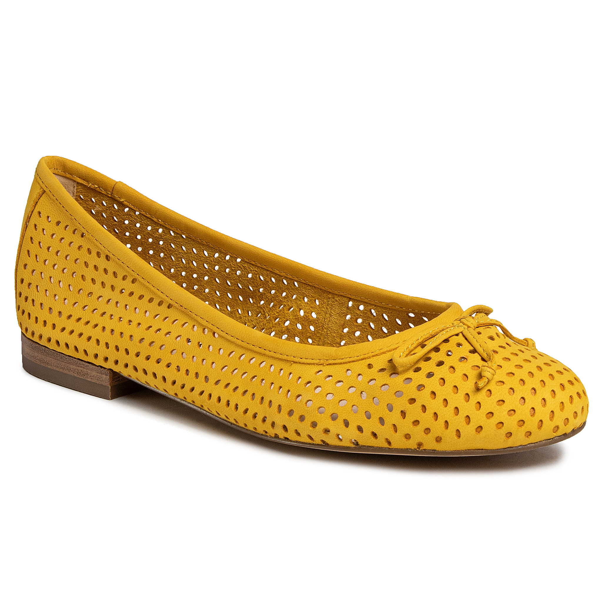 Balerini Caprice - 9-22101-24 Yellow Nubuc 601 imagine epantofi.ro