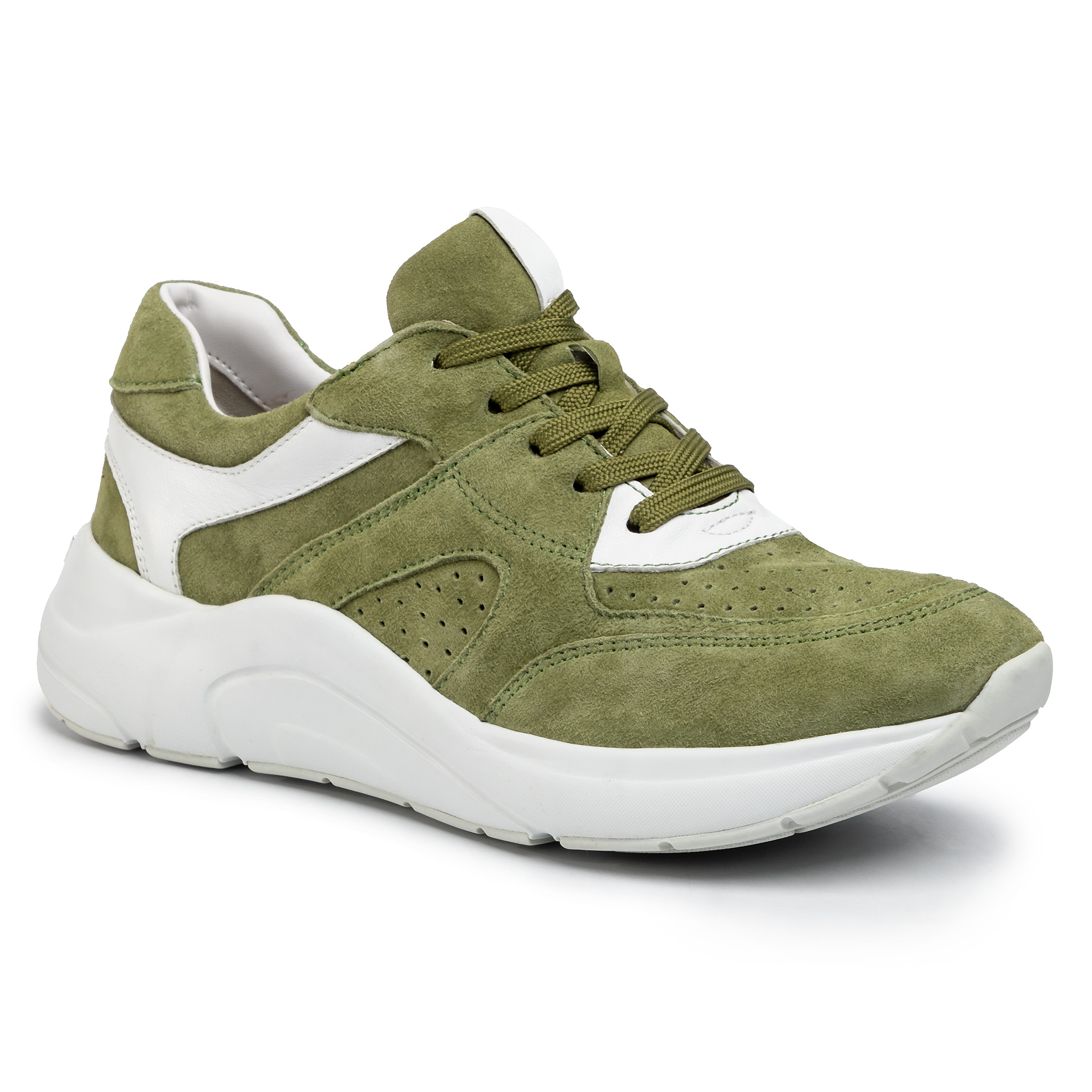 Sneakers CAPRICE - 9-23501-24 Moss White 711