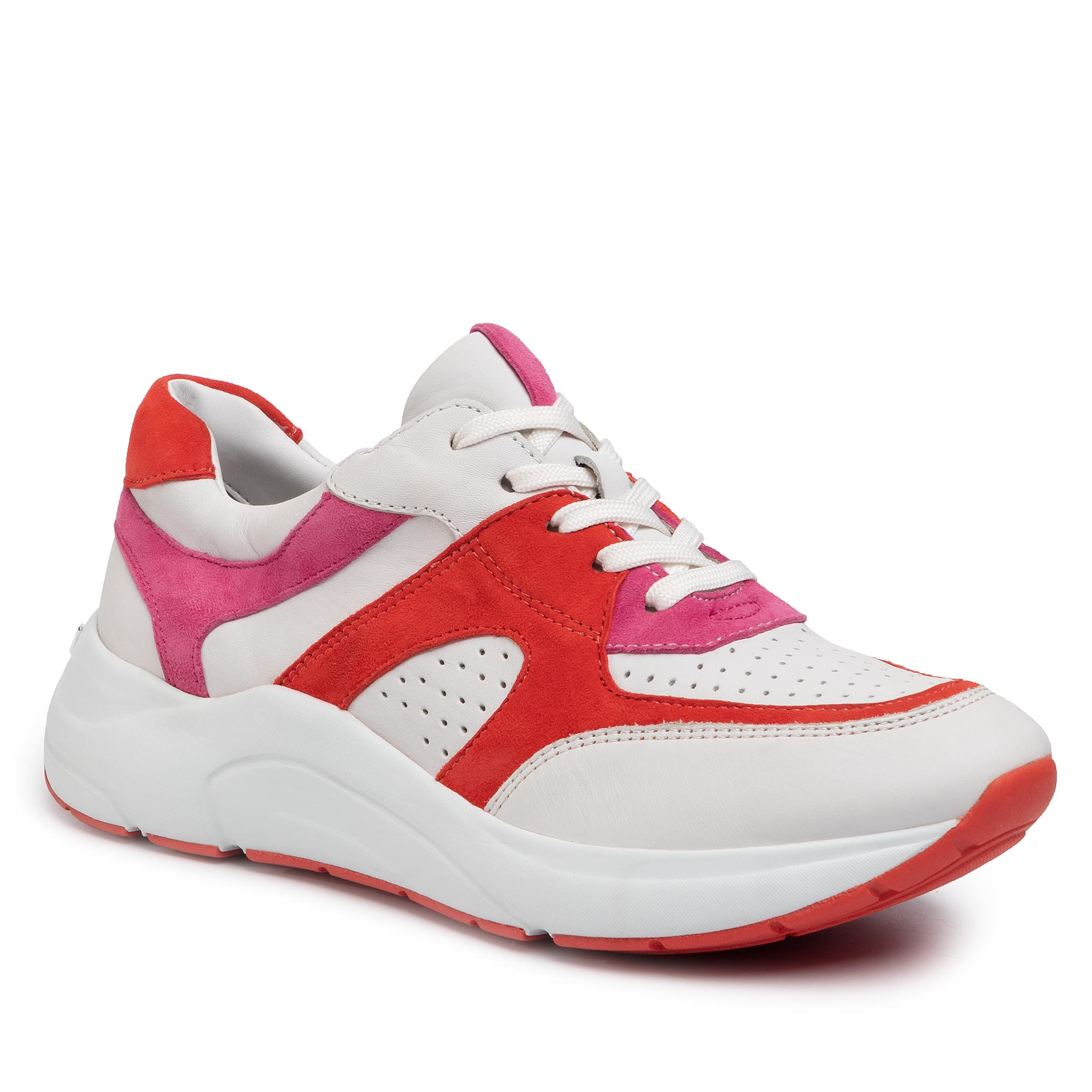 Sneakers CAPRICE - 9-23501-24 White/Coral 152