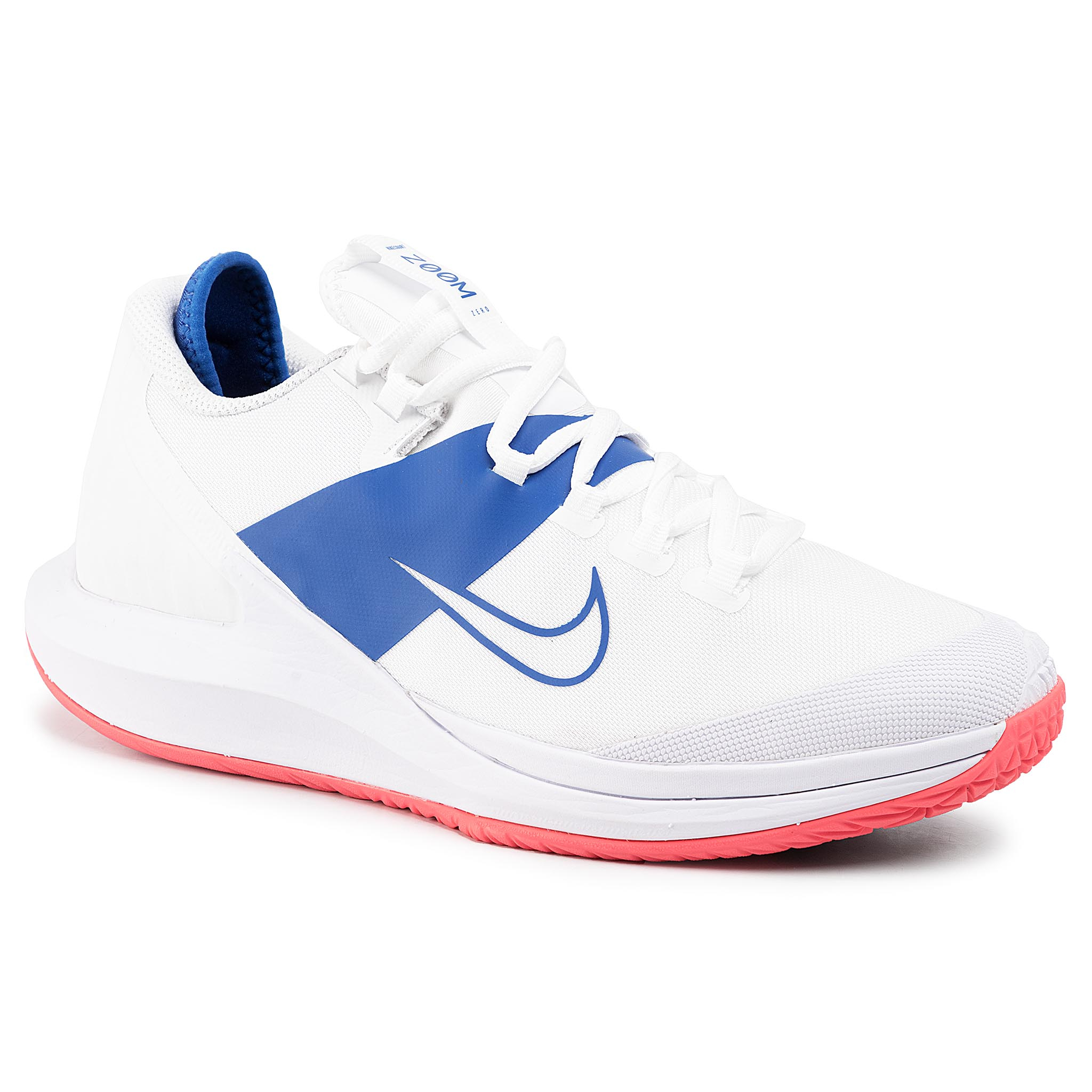 Pantofi Nike - Nikecourt Air Zoom Zero Hc Aa8018 103 White/White/Game Royal imagine epantofi.ro 2021