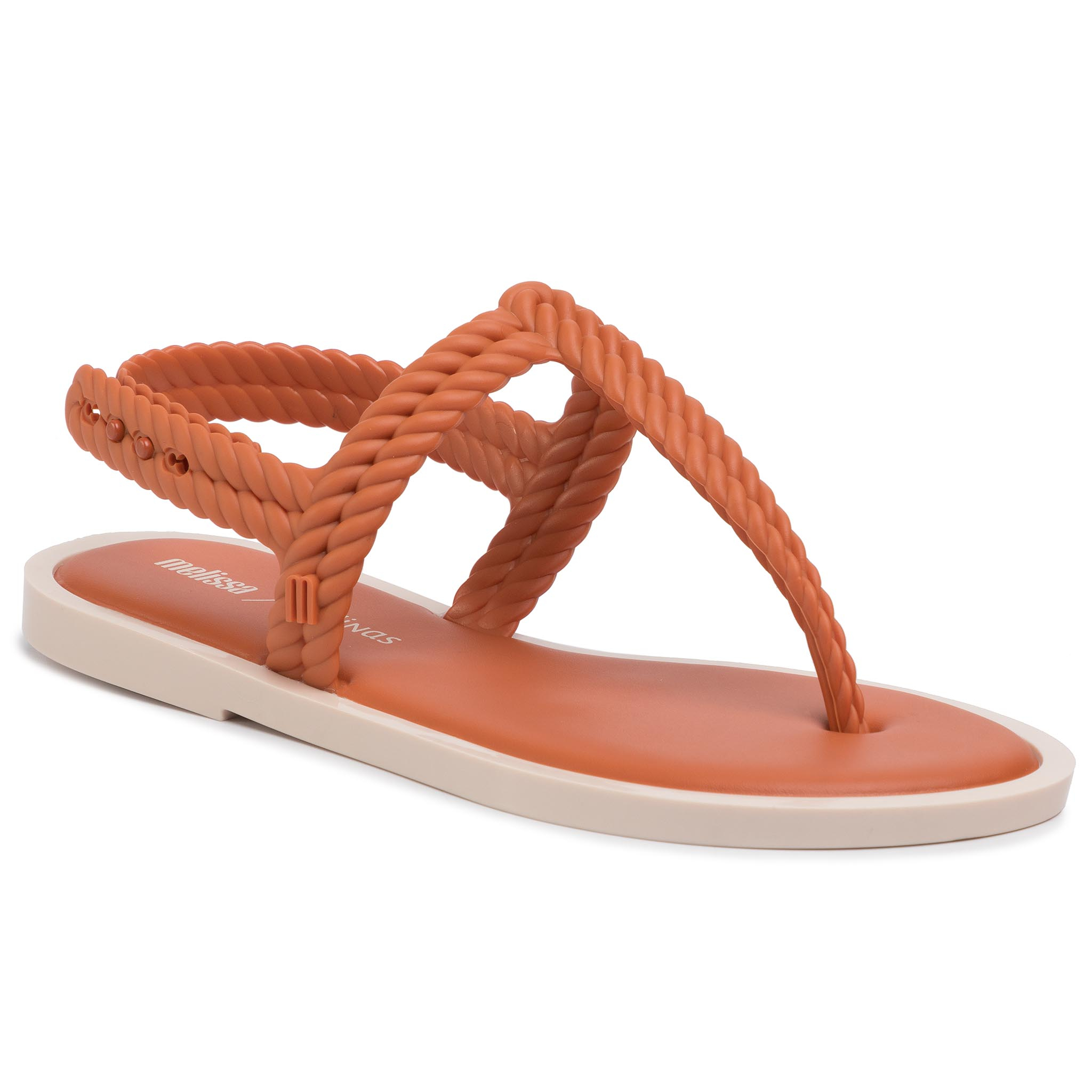 Sandale Melissa - Flash Sandal + Salinas 32630 Orange/Beige 52050 imagine epantofi.ro 2021