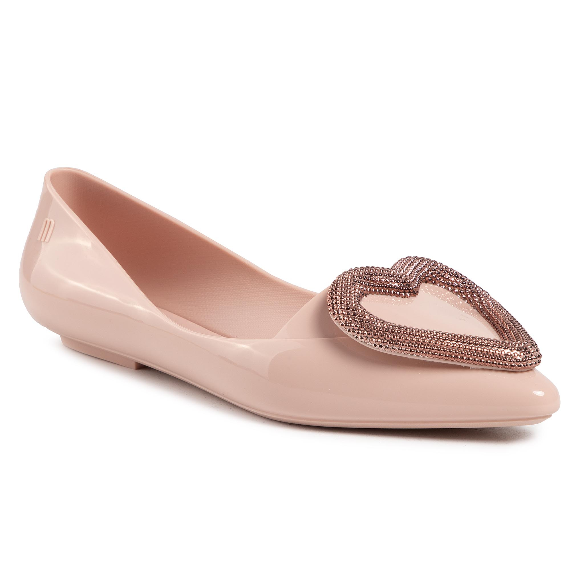Balerini Melissa - Pointy Heart Ad 32785 Pink/Rose 52932 imagine epantofi.ro