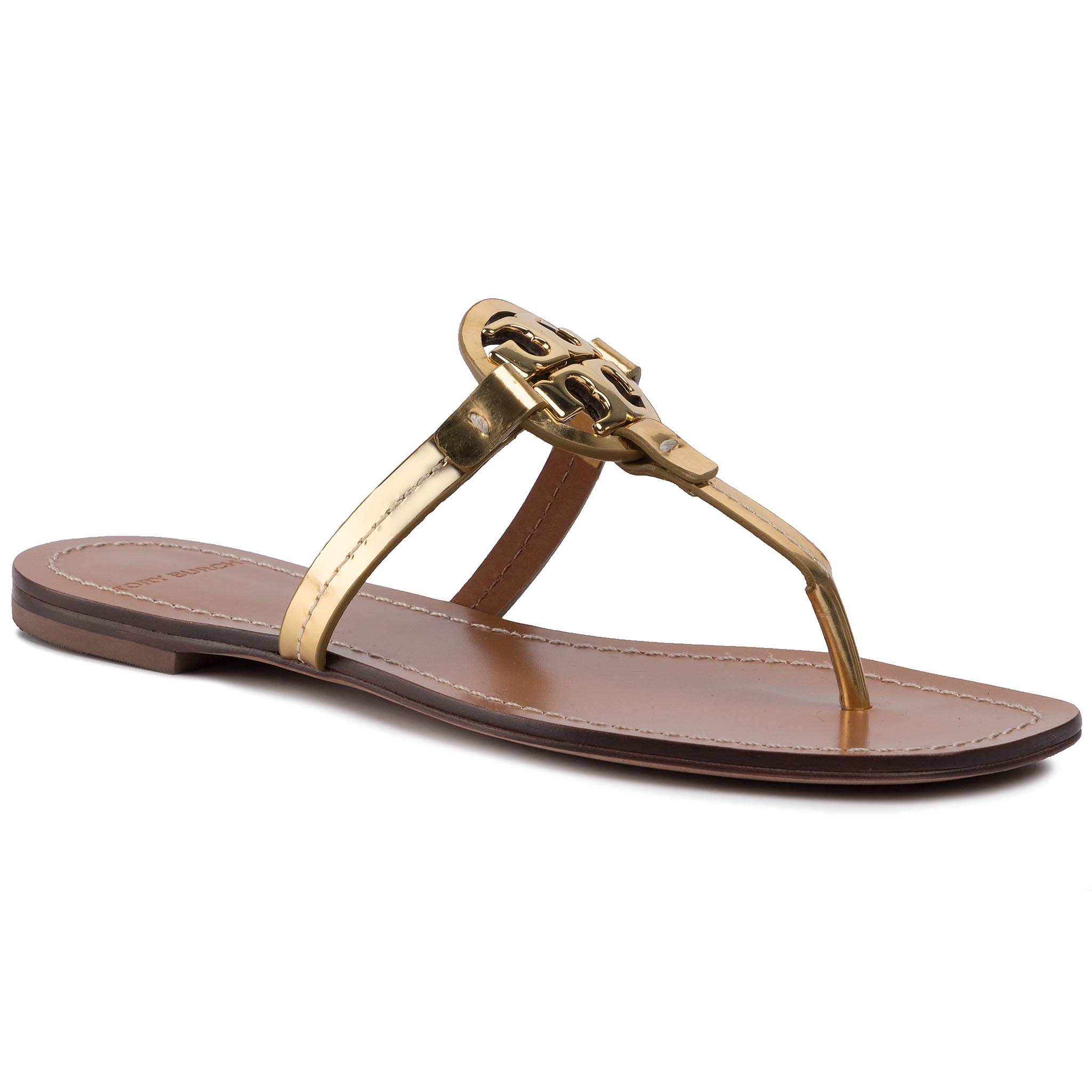Flip flop TORY BURCH - Mini Miller Leather Thong 63253 Gold 701