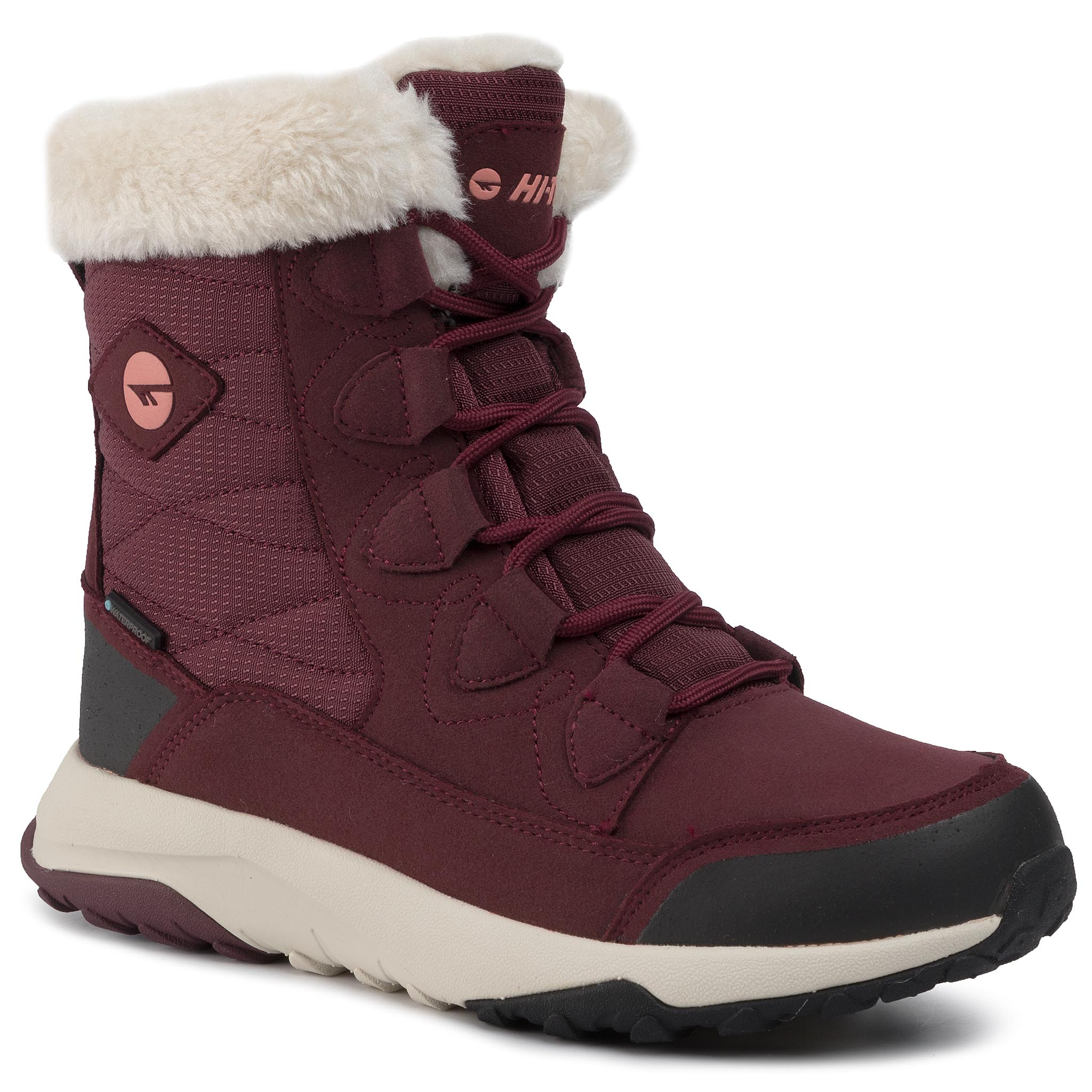 Trekkings Hi-Tec - Mestia Mid Wp Wo's Avsaw19-Ht-03-Q4 Dark Rose/Watermelon Red/Beige imagine epantofi.ro 2021