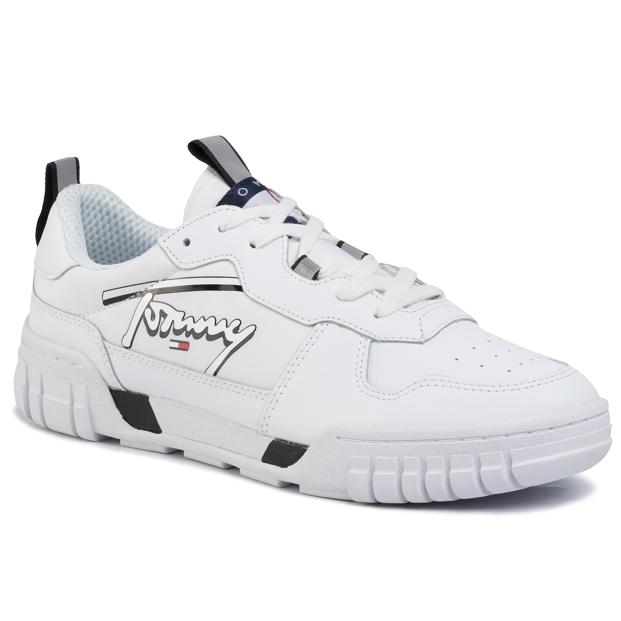 Sneakers TOMMY JEANS - Signature Sneaker EM0EM00319 White YBS