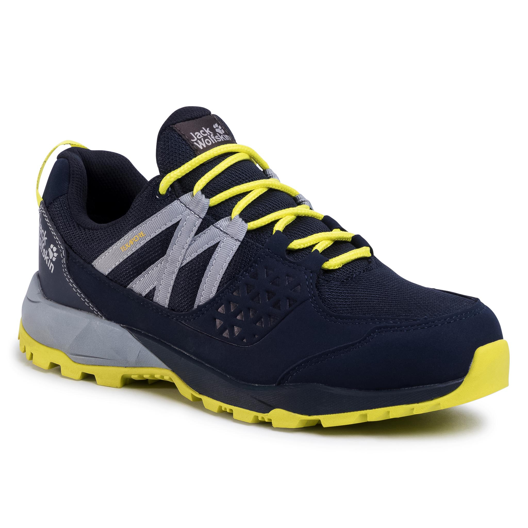 Trekkings Jack Wolfskin - Cascade Hike Texapore Low M 4035491 Dark Blue/Lime imagine epantofi.ro 2021