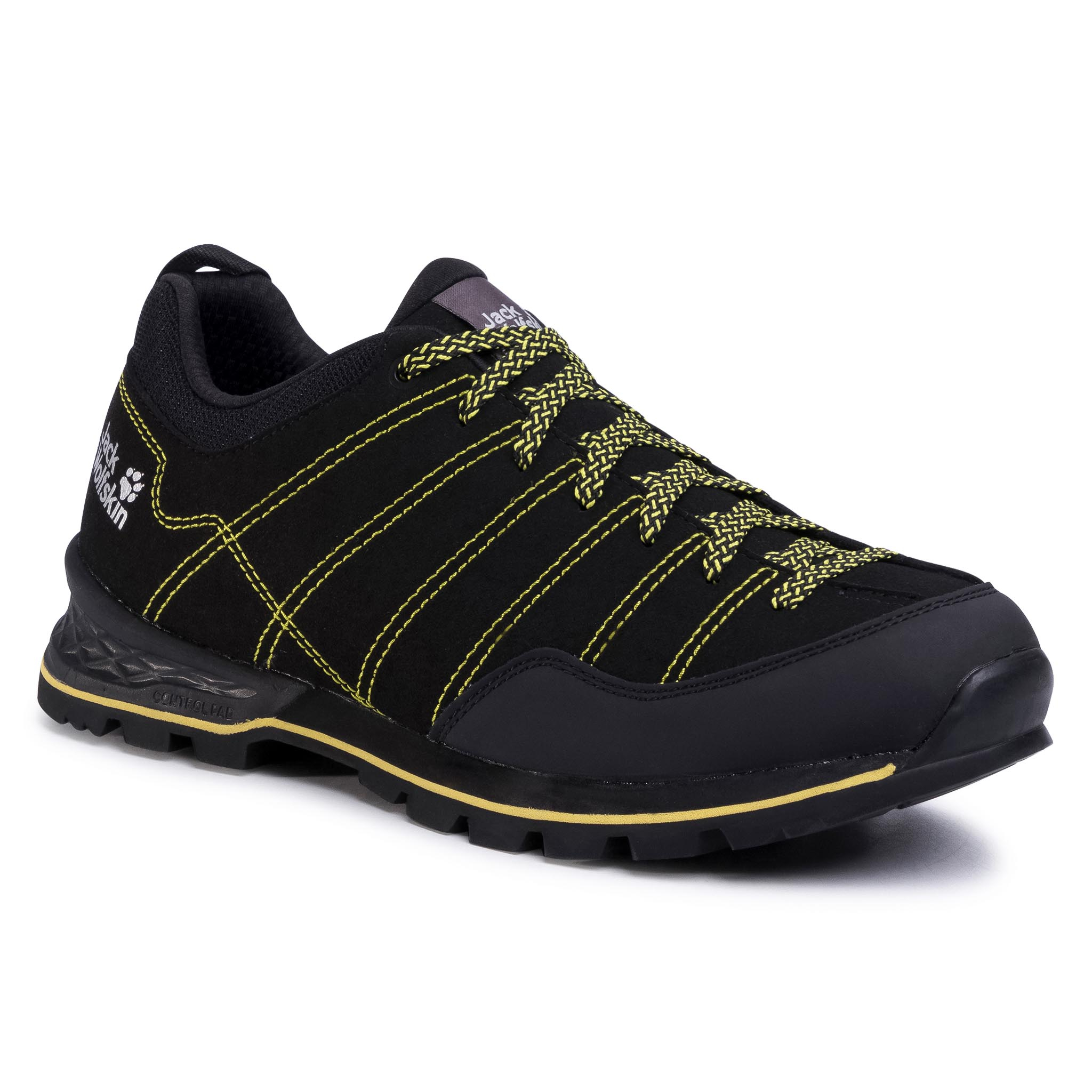 Trekkings Jack Wolfskin - Scrambler Low M 4036701 Black/Lime imagine epantofi.ro 2021