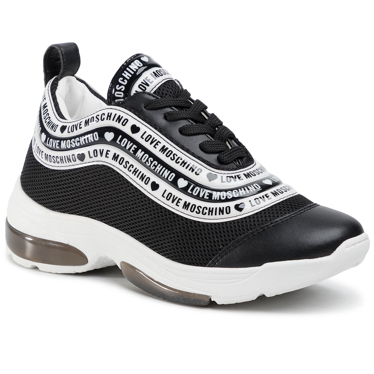 Sneakers LOVE MOSCHINO - JA15135G1AIP200A Nero