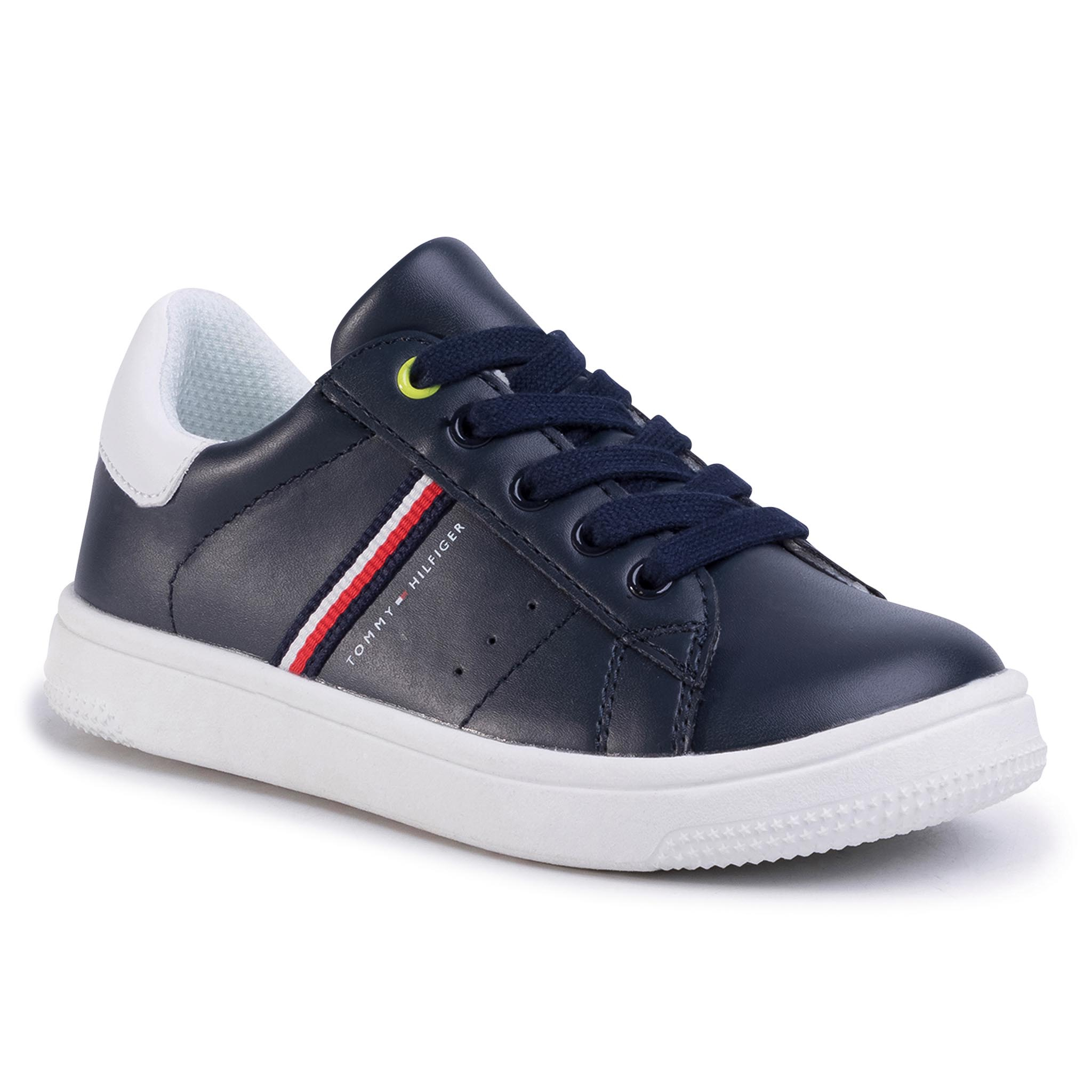 Sneakers TOMMY HILFIGER - Low Cut Lace-Up Sneaker T3B4-30709-0621 M Blue/White X007