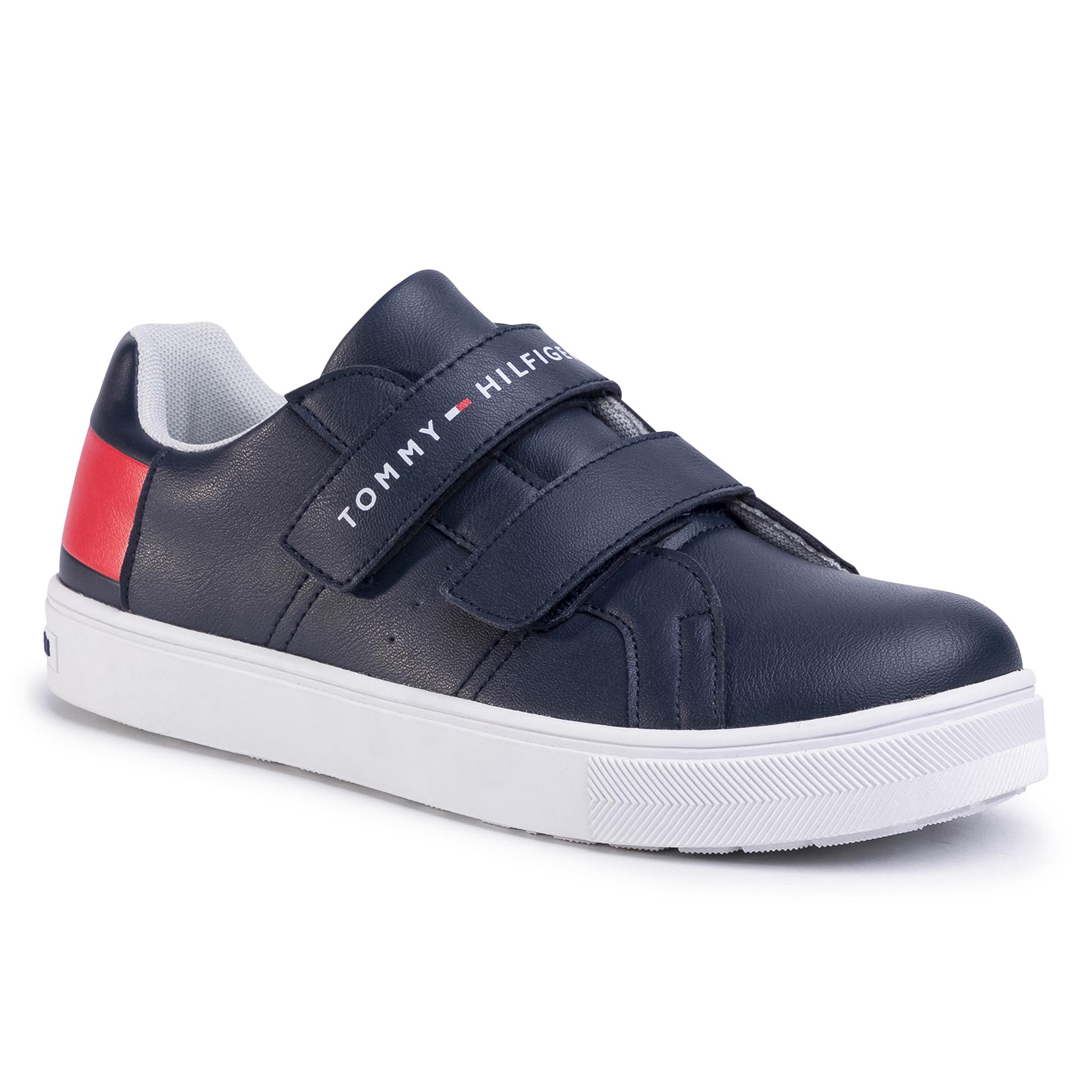 Sneakers TOMMY HILFIGER - Low Cut Velcro Sneaker T3B4-30719-0193 D Blue/White/Red Y004