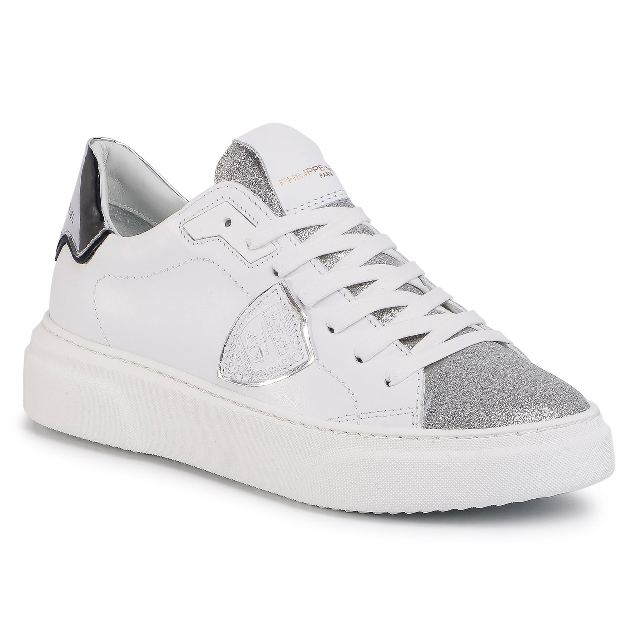 Sneakers PHILIPPE MODEL - Temple BYLD VG01 Blanc Argent