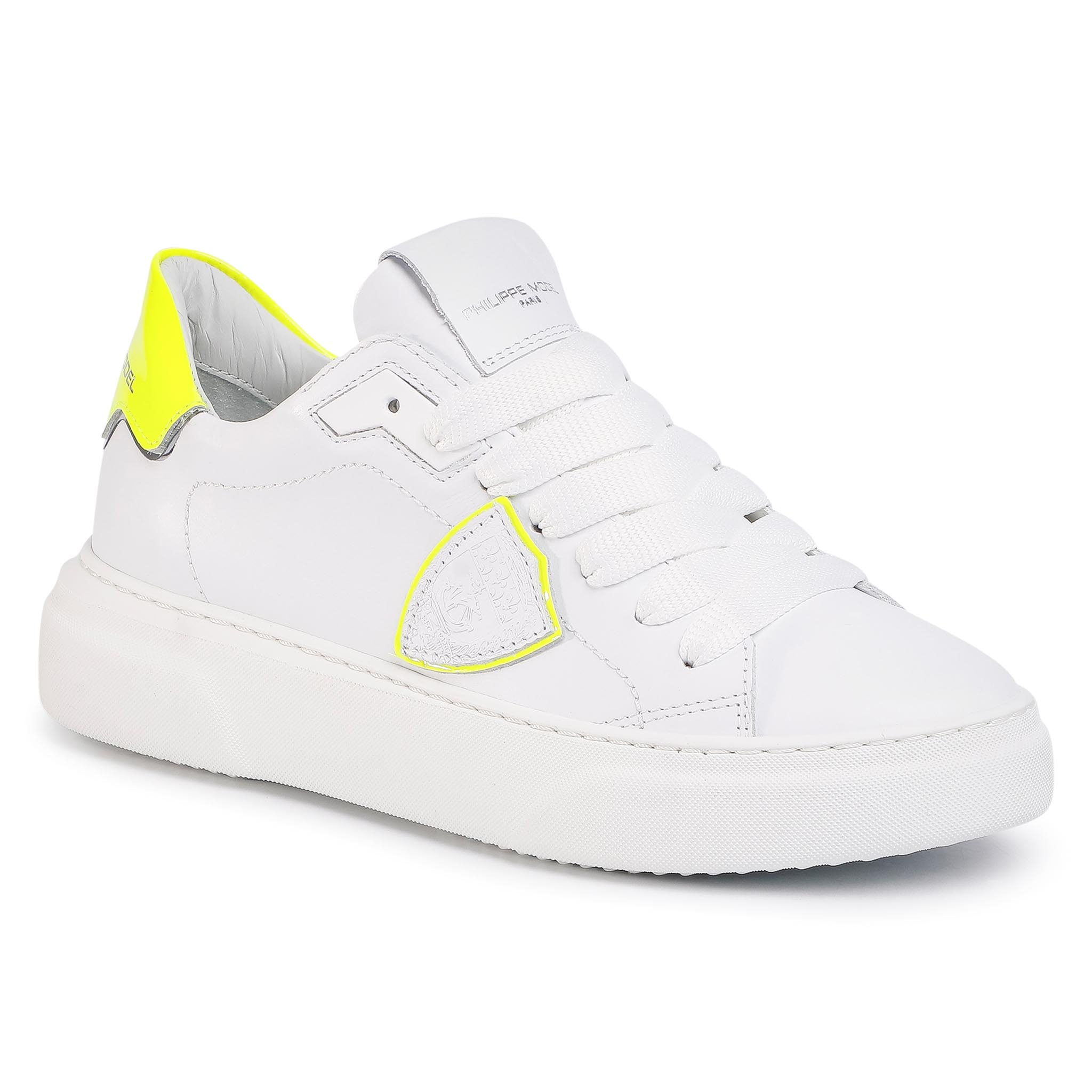 Sneakers PHILIPPE MODEL - Temple BYLD FV01 Neon Blanc Jaune
