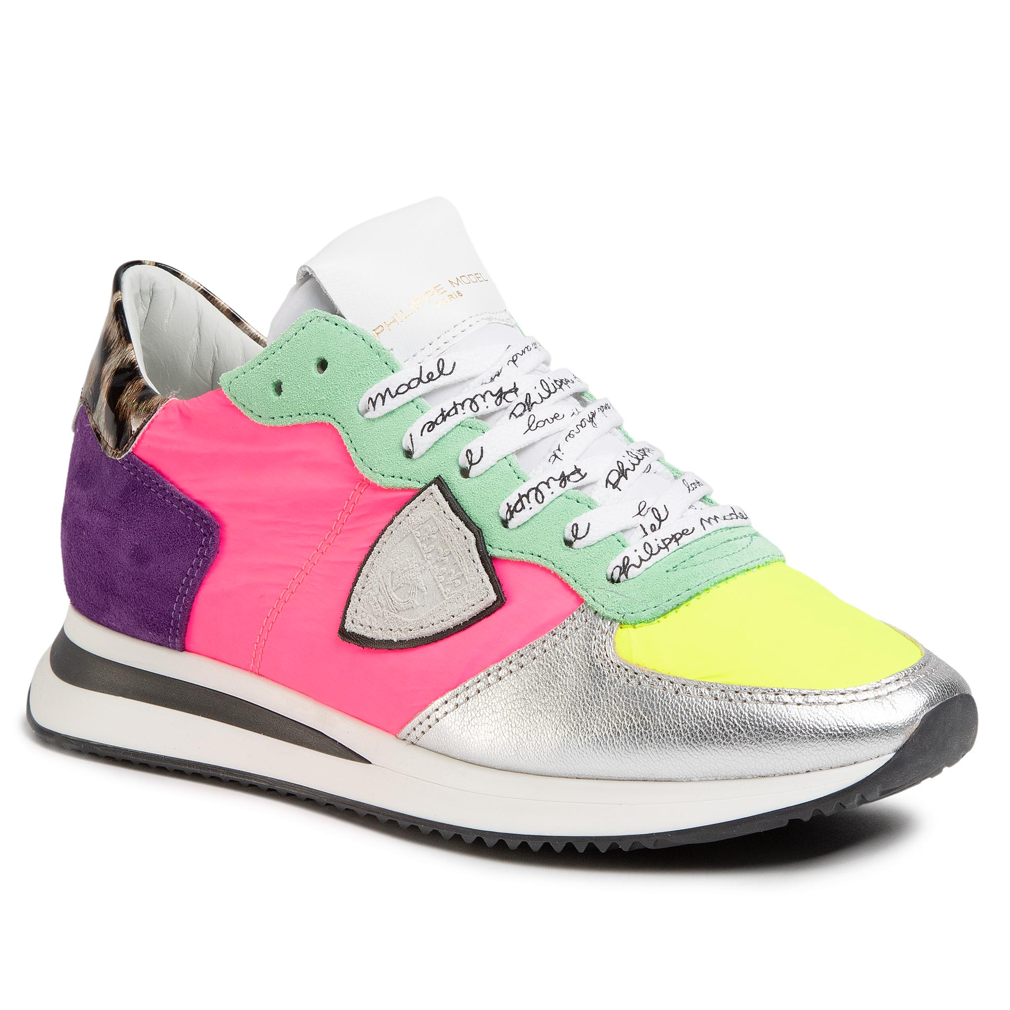 Sneakers PHILIPPE MODEL - Trpx TZLD RP09 Neon Pop Fucsia Argent