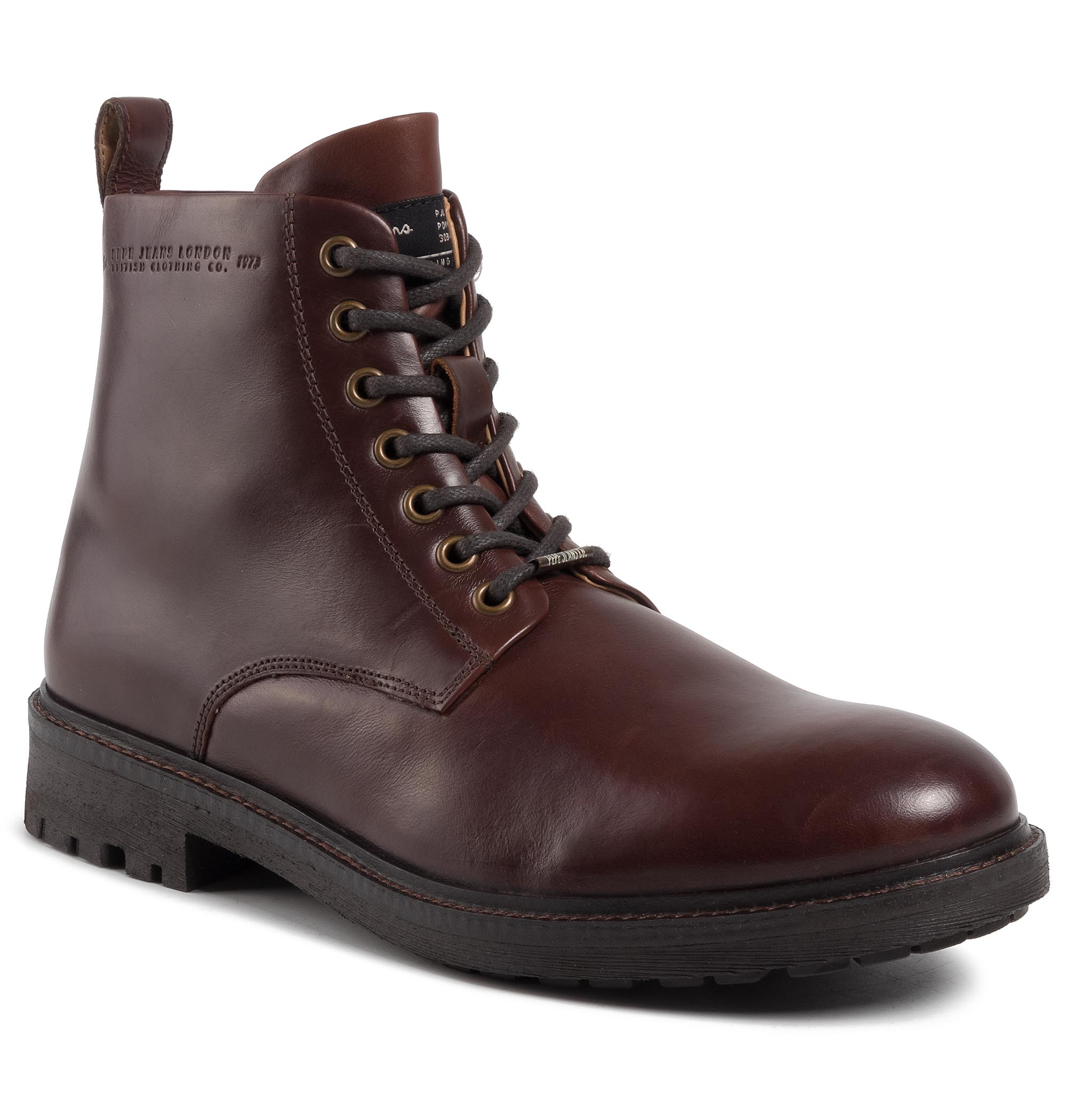 Trappers Pepe Jeans - Porter Boot Basic Pms50179 Burgundy 299 imagine