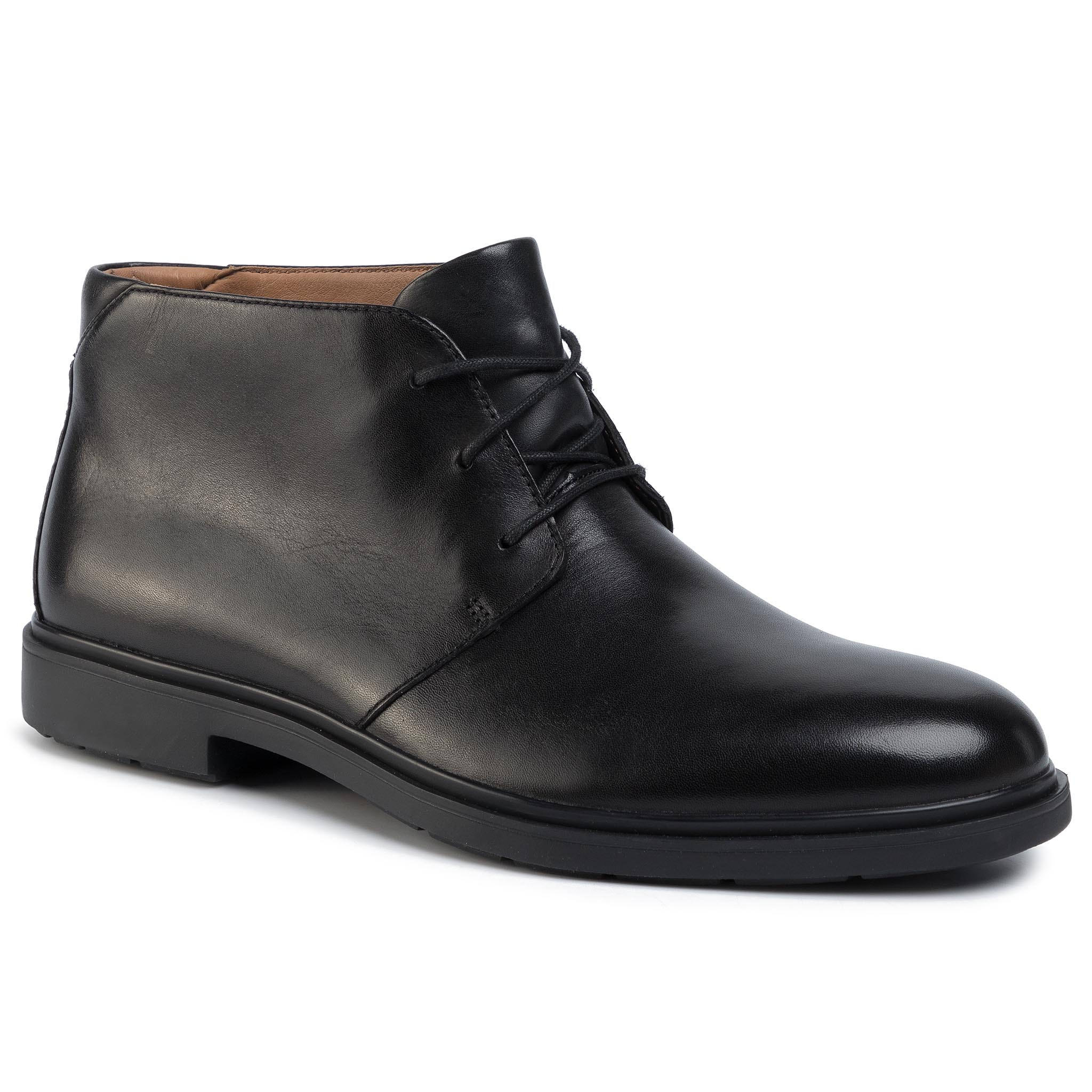 Ghete Clarks - Un Taileor Mid 261446777 Black Leather imagine