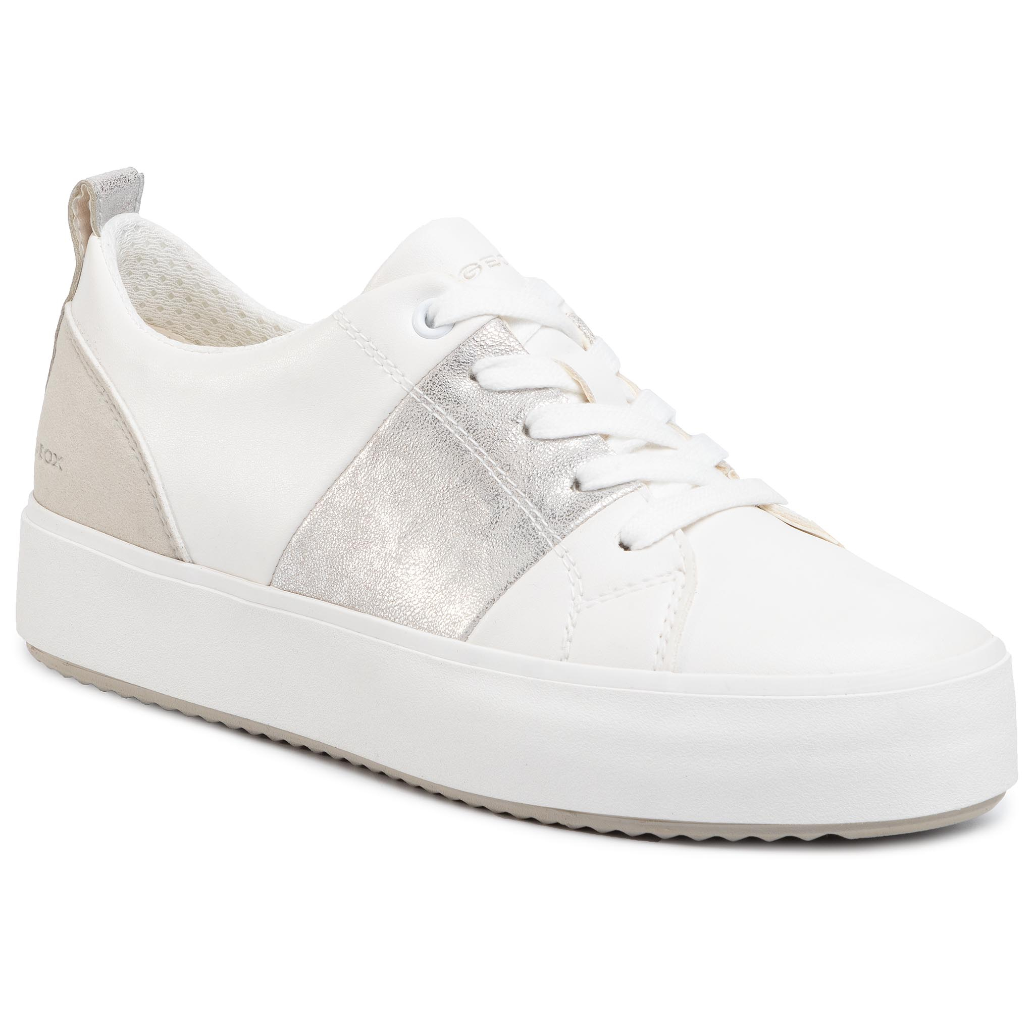 Sneakers GEOX - D Blomiee H. A D02DZA 0BCBN C0007 White/Silver